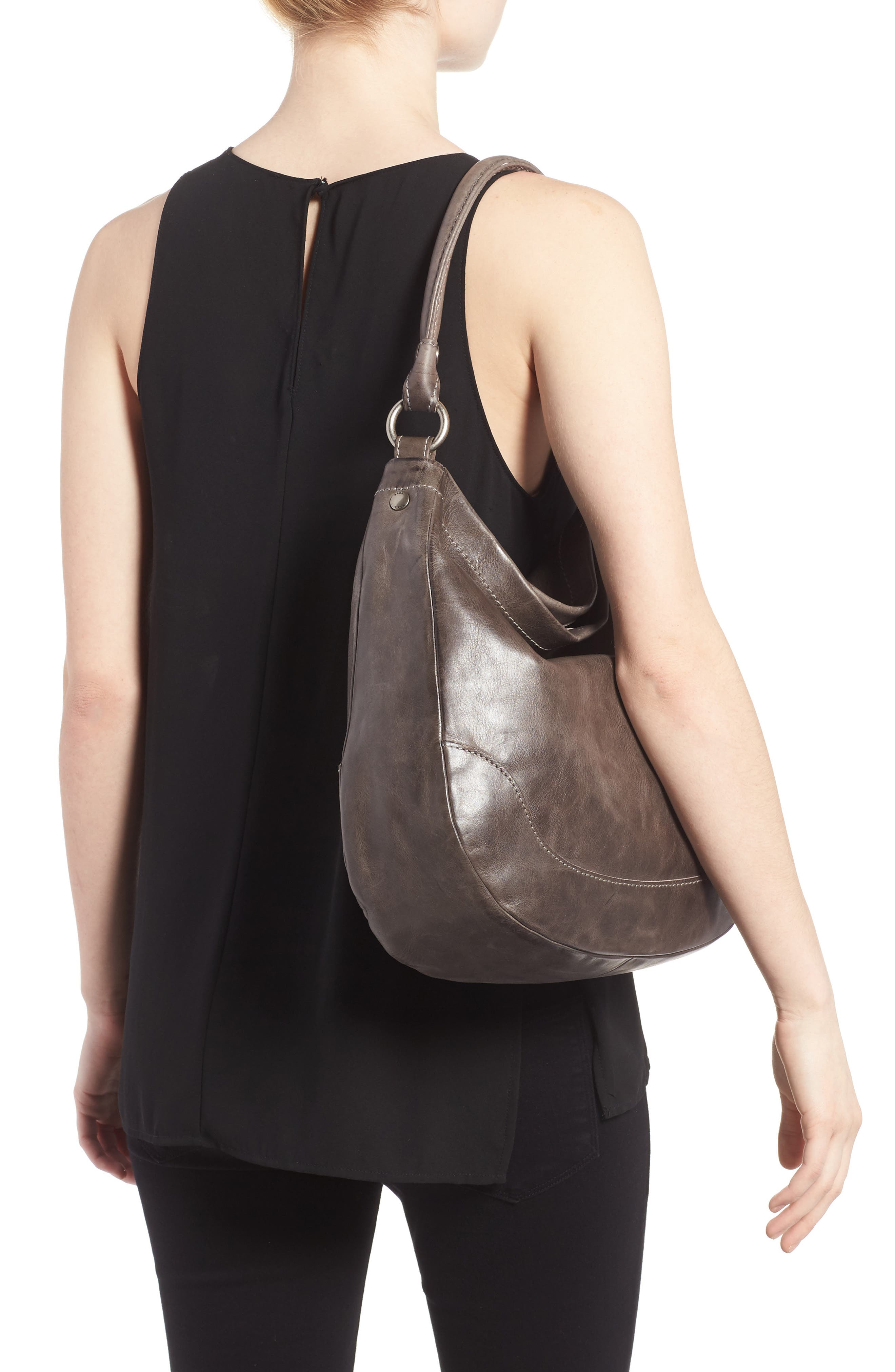 Melissa Leather Hobo,                             Alternate thumbnail 2, color,                             ICE