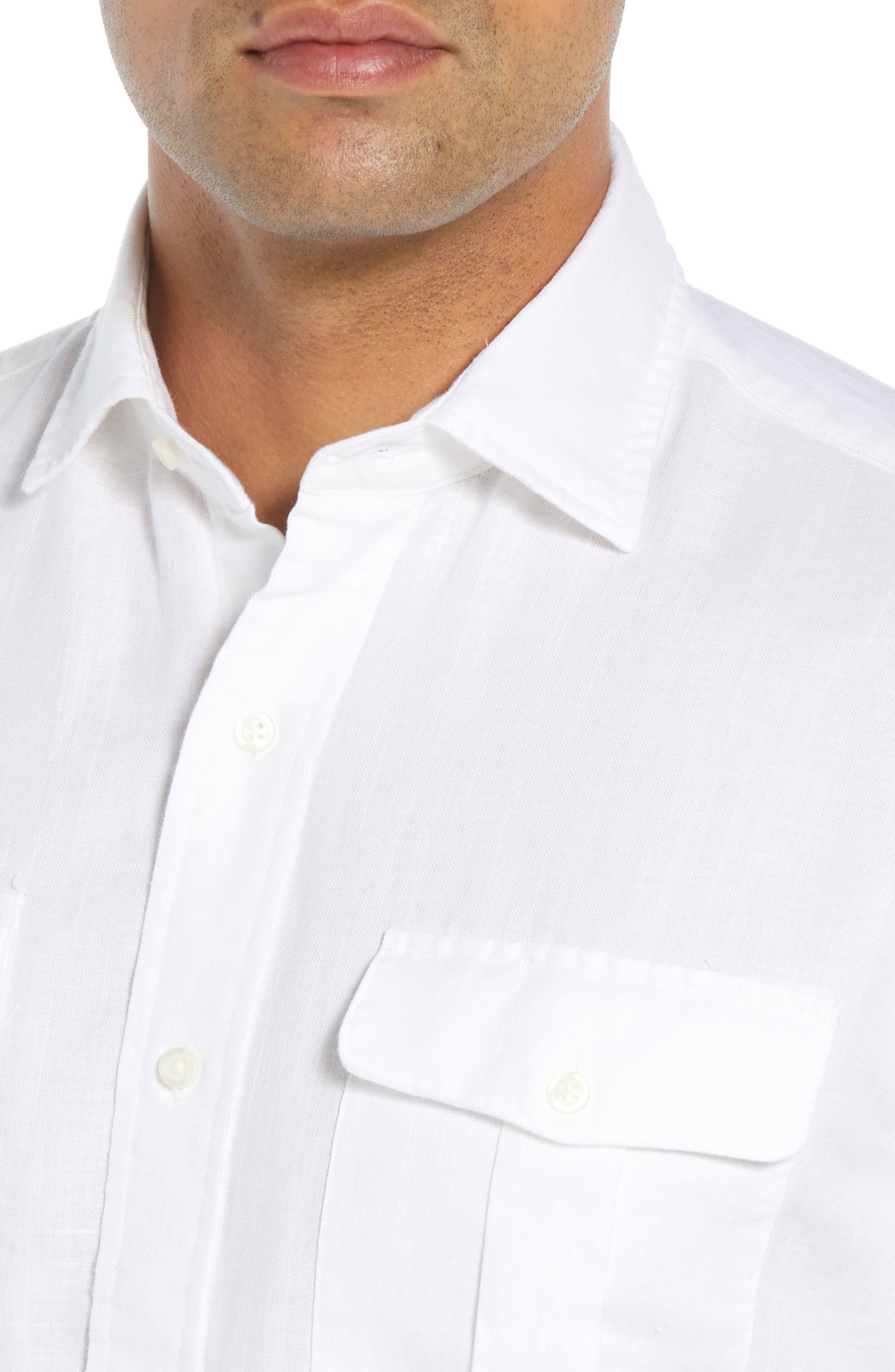 Harkers Regular Fit Herringbone Sport Shirt,                             Alternate thumbnail 2, color,                             100
