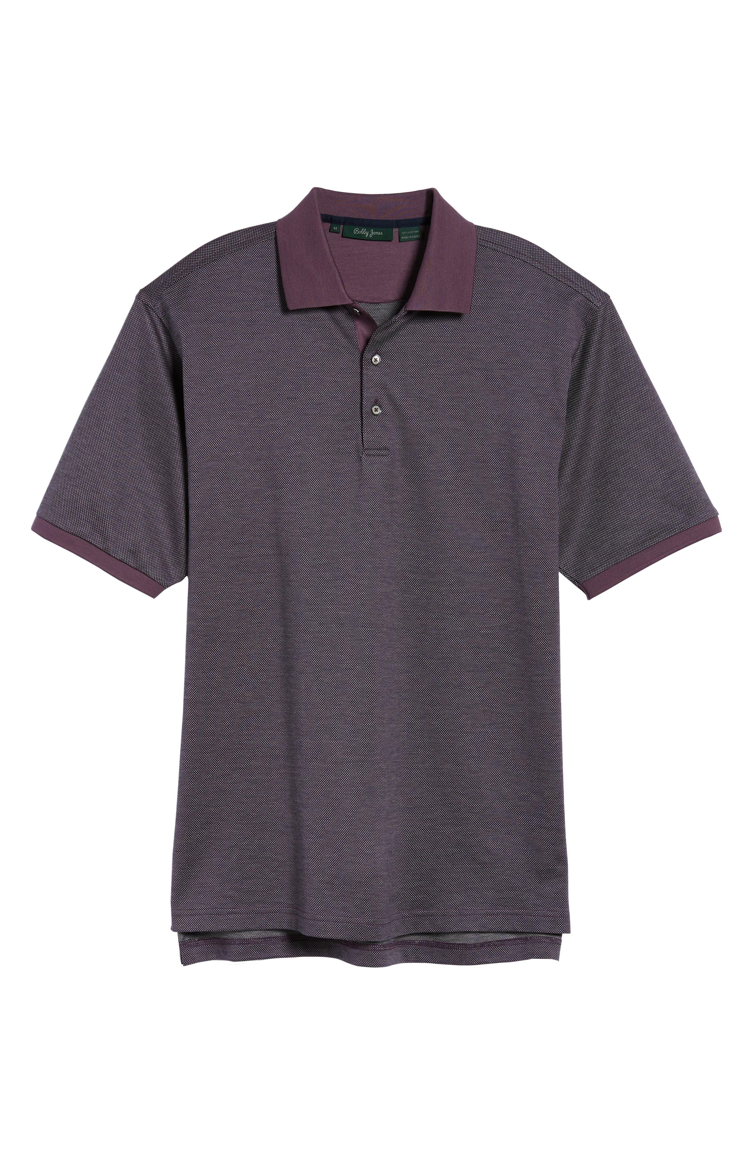 Verde Jacquard Mercerized Cotton Polo,                             Alternate thumbnail 17, color,