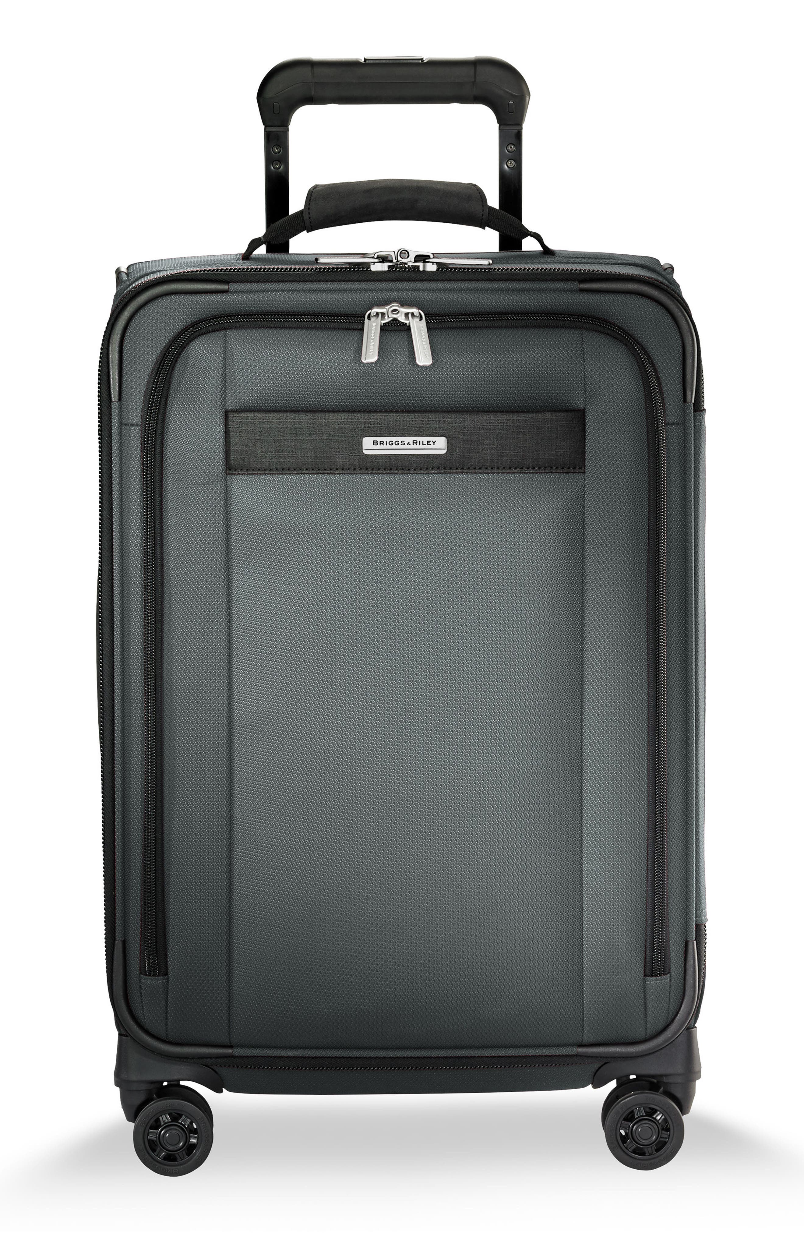 Transcend VX Tall Expandable 22-Inch Spinner Suitcase,                         Main,                         color, SLATE GREY