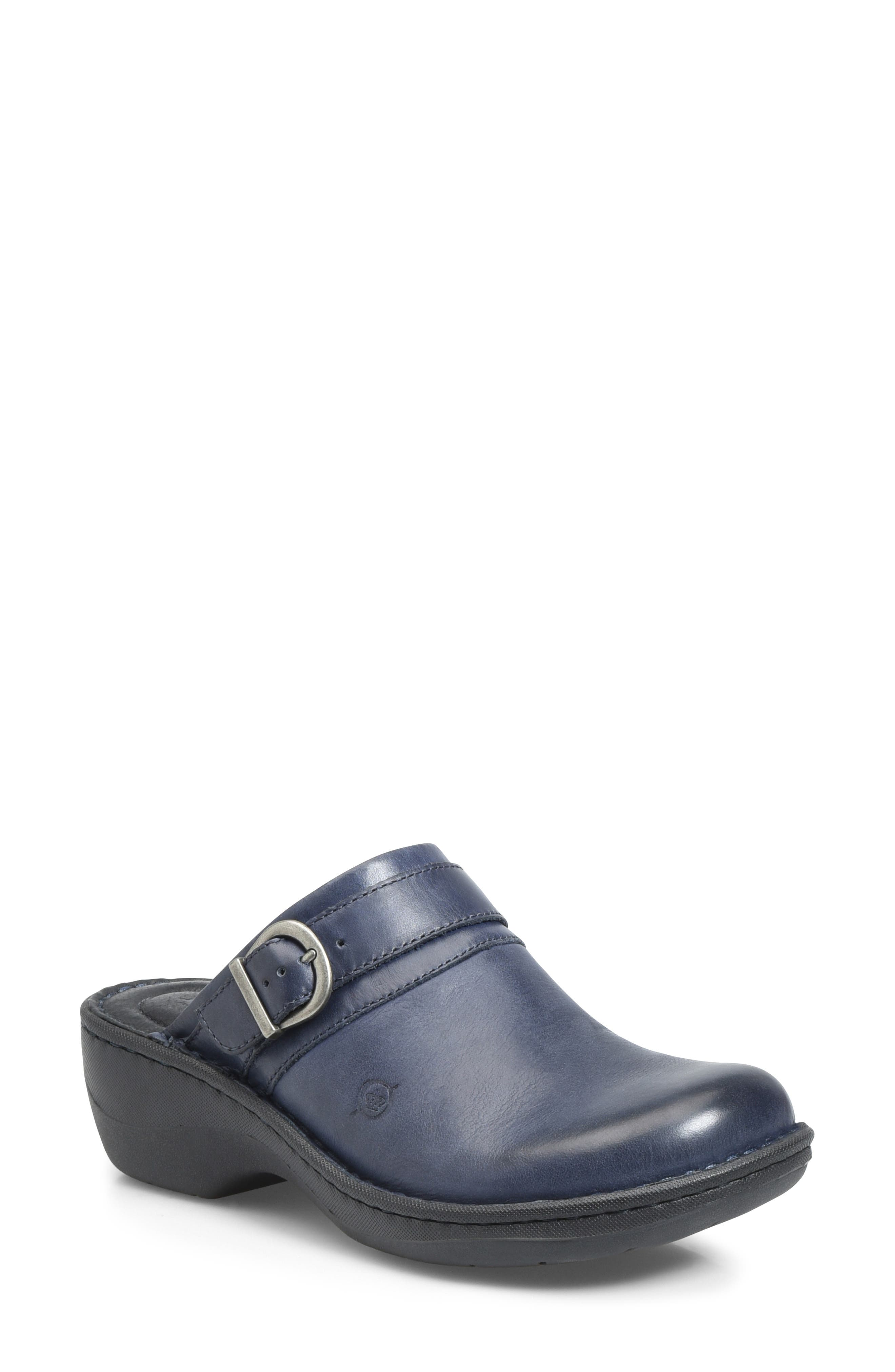 Avoca Clog,                         Main,                         color, NAVY LEATHER
