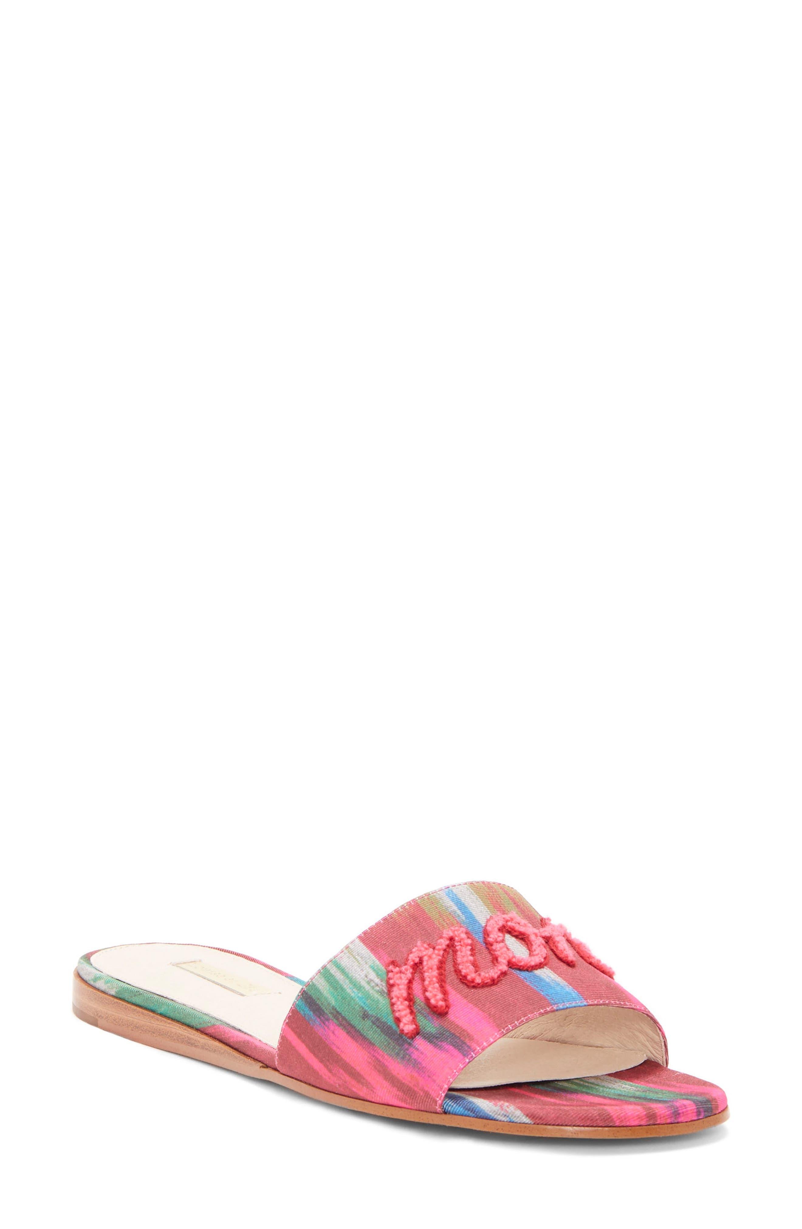 Louise Et Cie Anneta Slide Sandal- Pink