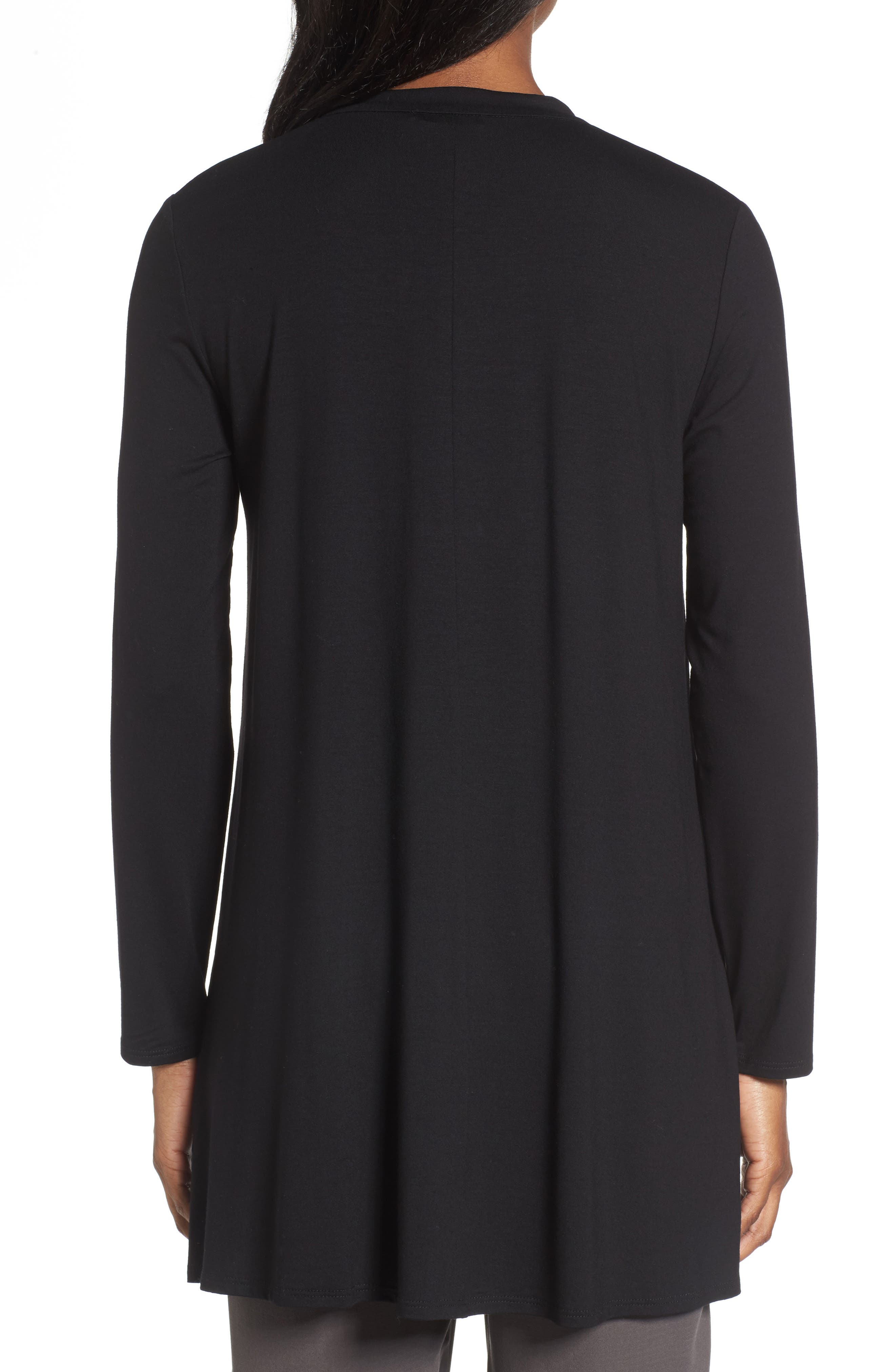 Button Front Jersey Tunic,                             Alternate thumbnail 2, color,                             001