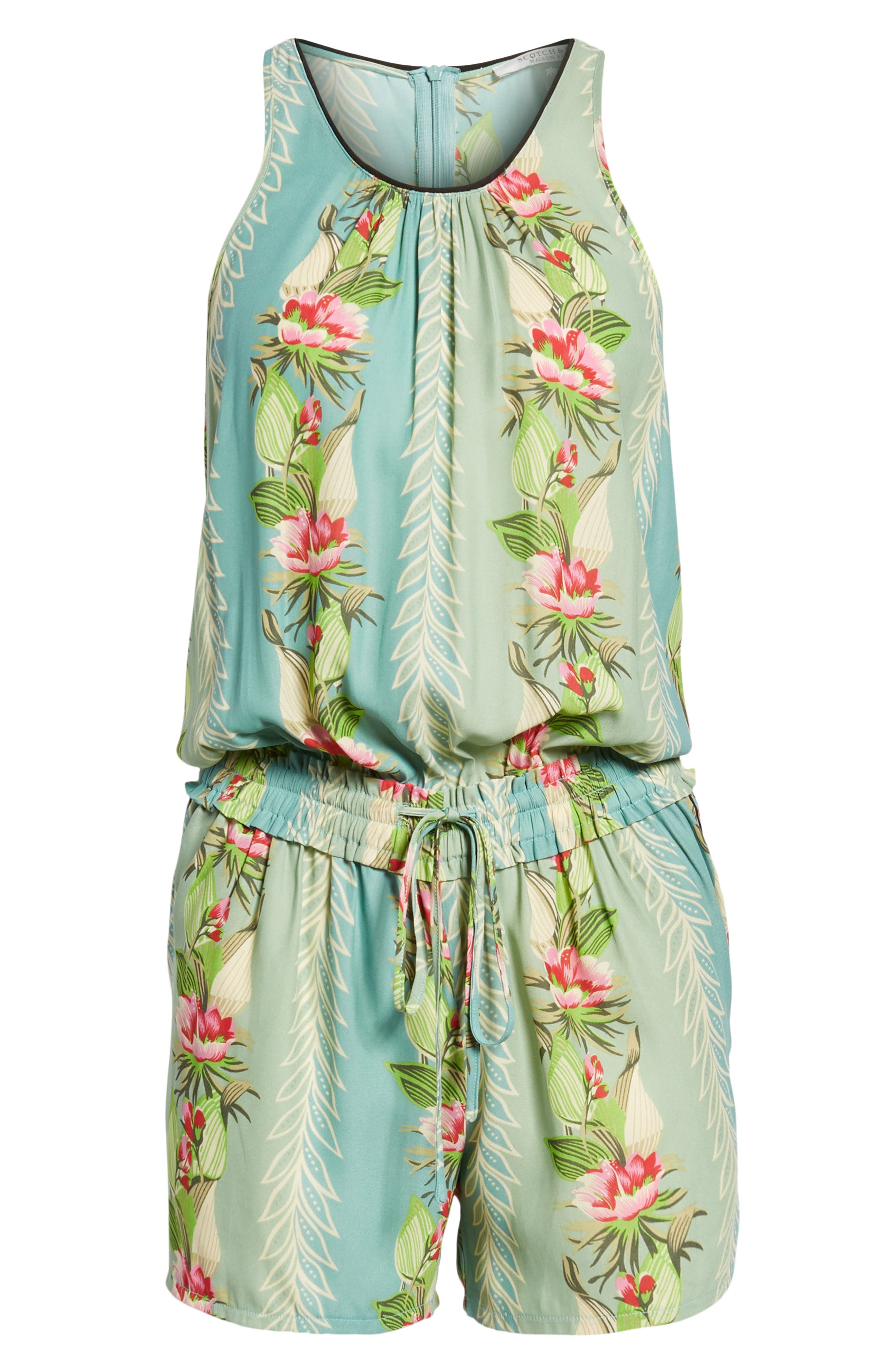 Print All in One Romper,                             Alternate thumbnail 6, color,                             440