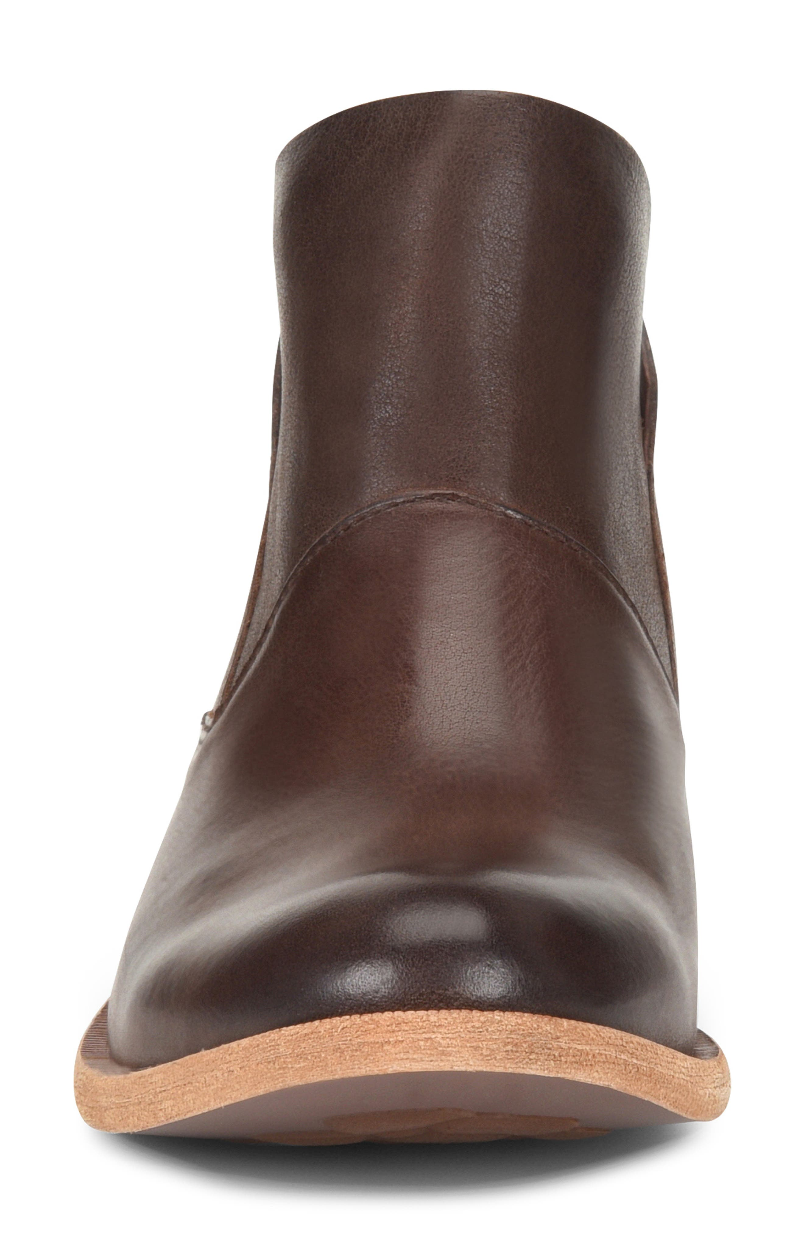 Ryder Ankle Boot,                             Alternate thumbnail 4, color,                             DARK BROWN LEATHER