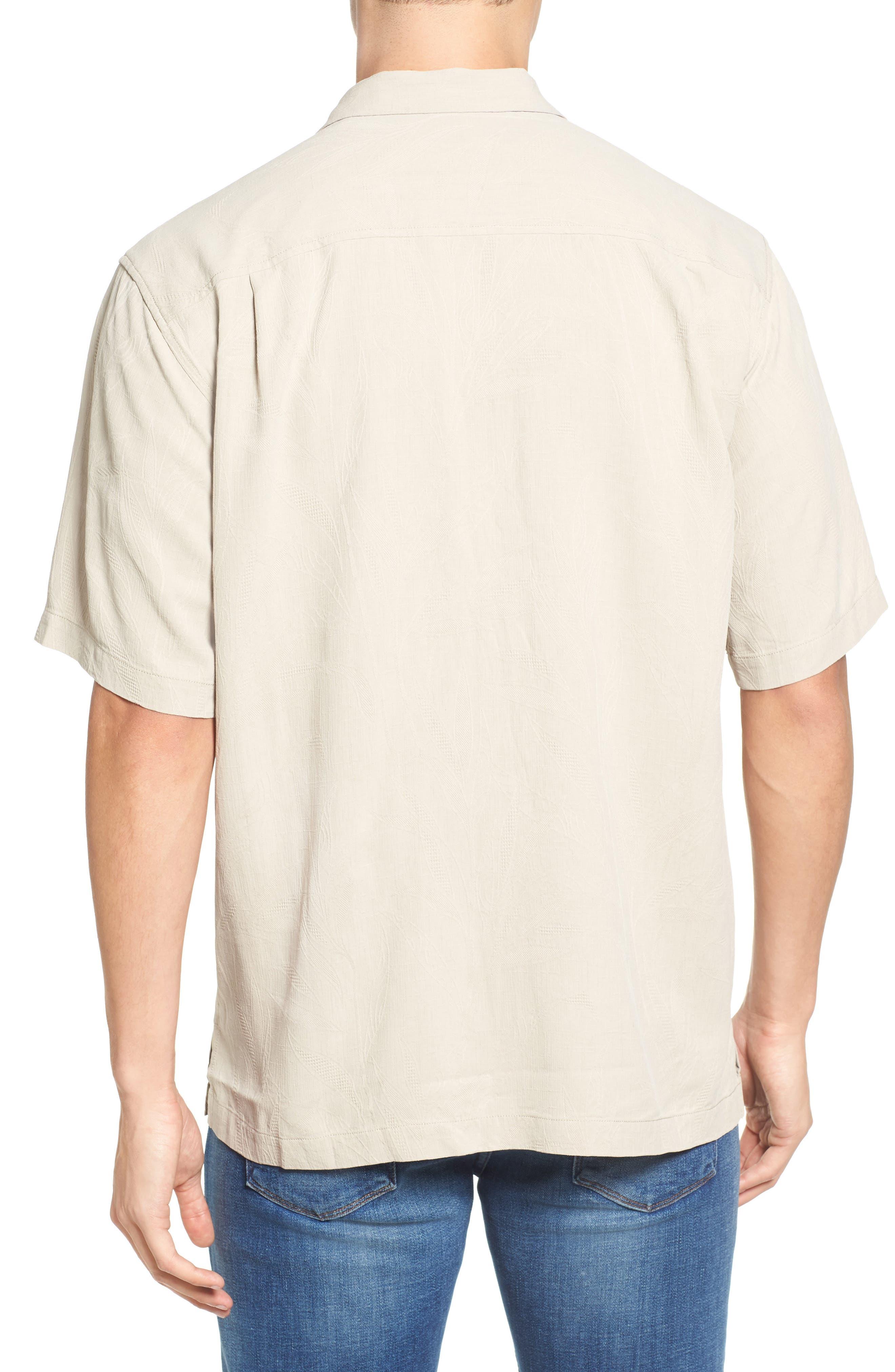 Islander Fronds Silk Camp Shirt,                             Alternate thumbnail 13, color,