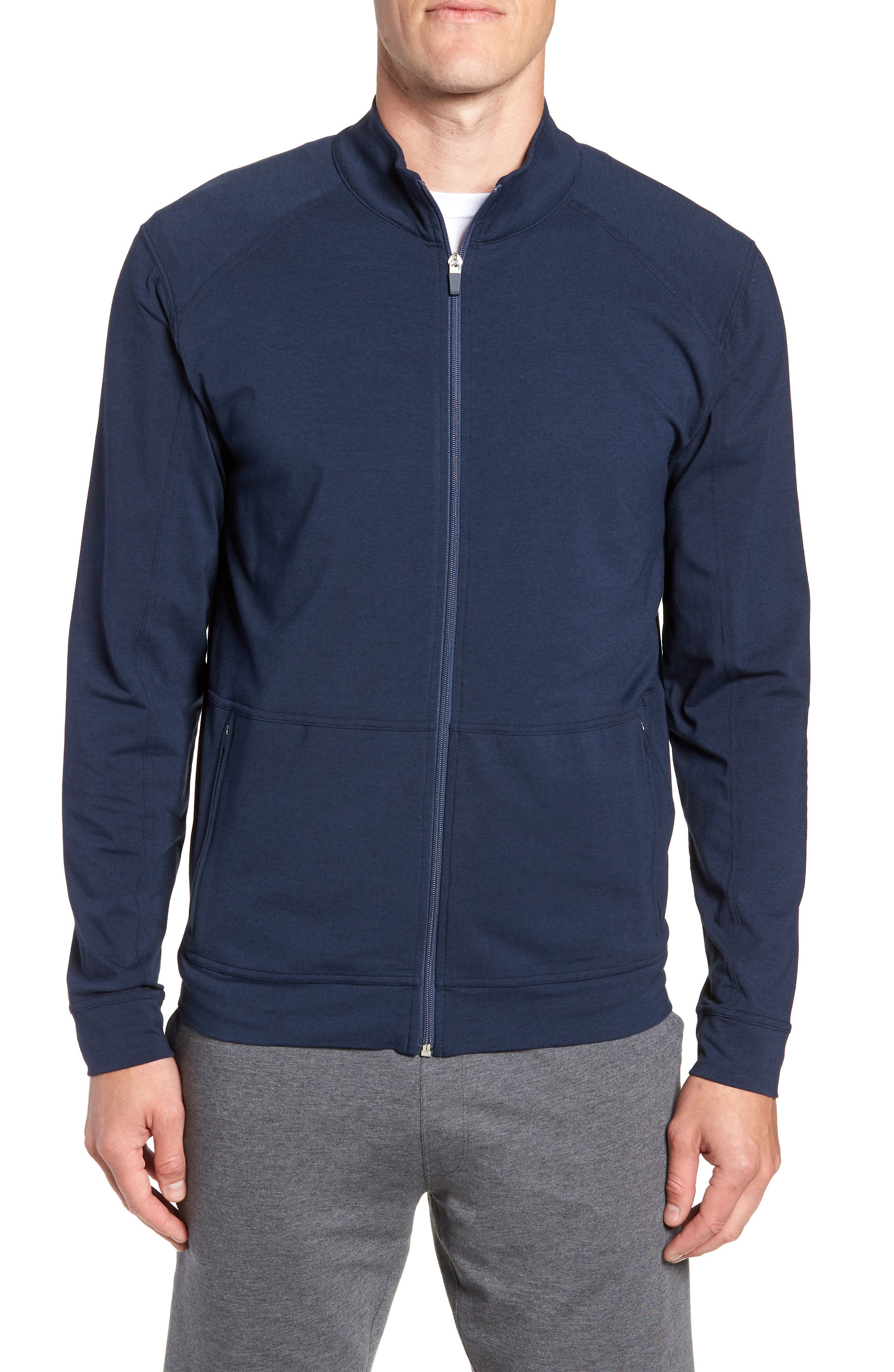 TASC PERFORMANCE Carrollton Zip Jacket, Main, color, CLASSIC NAVY