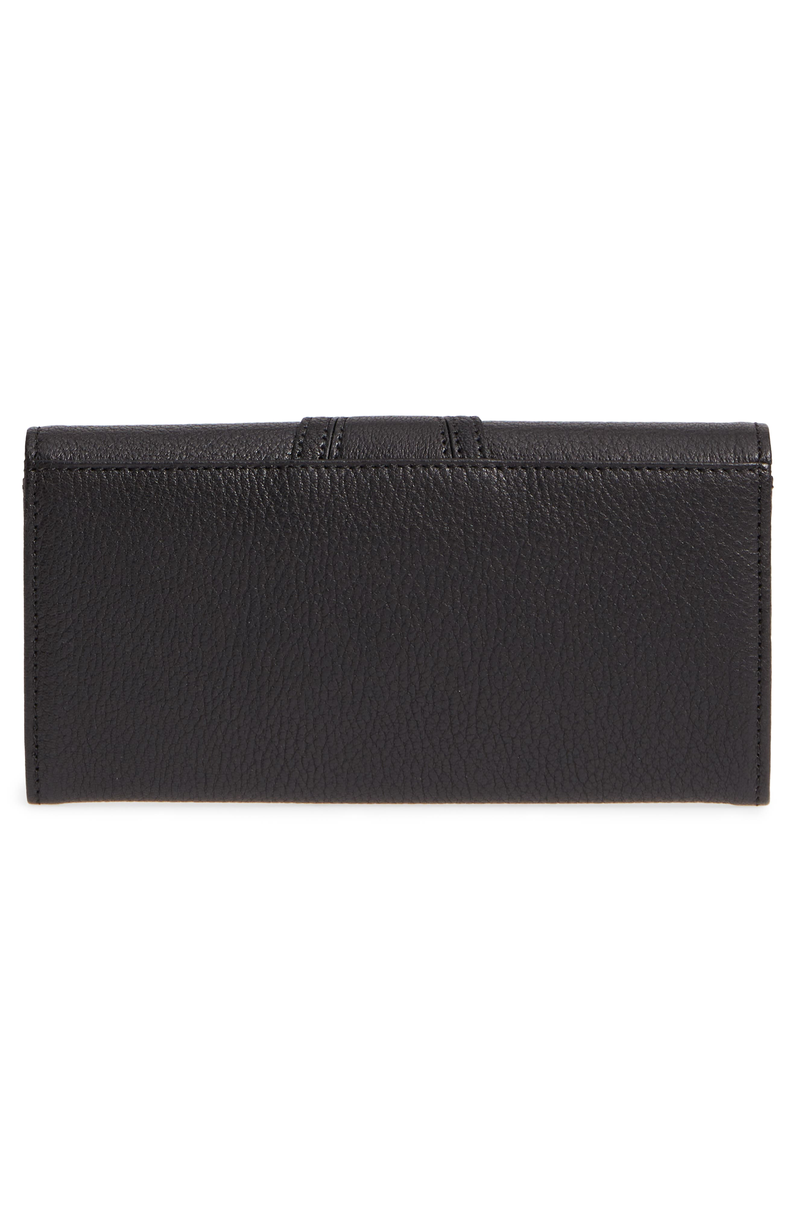 SEE BY CHLOÉ,                             Hana Large Leather Wallet,                             Alternate thumbnail 3, color,                             001