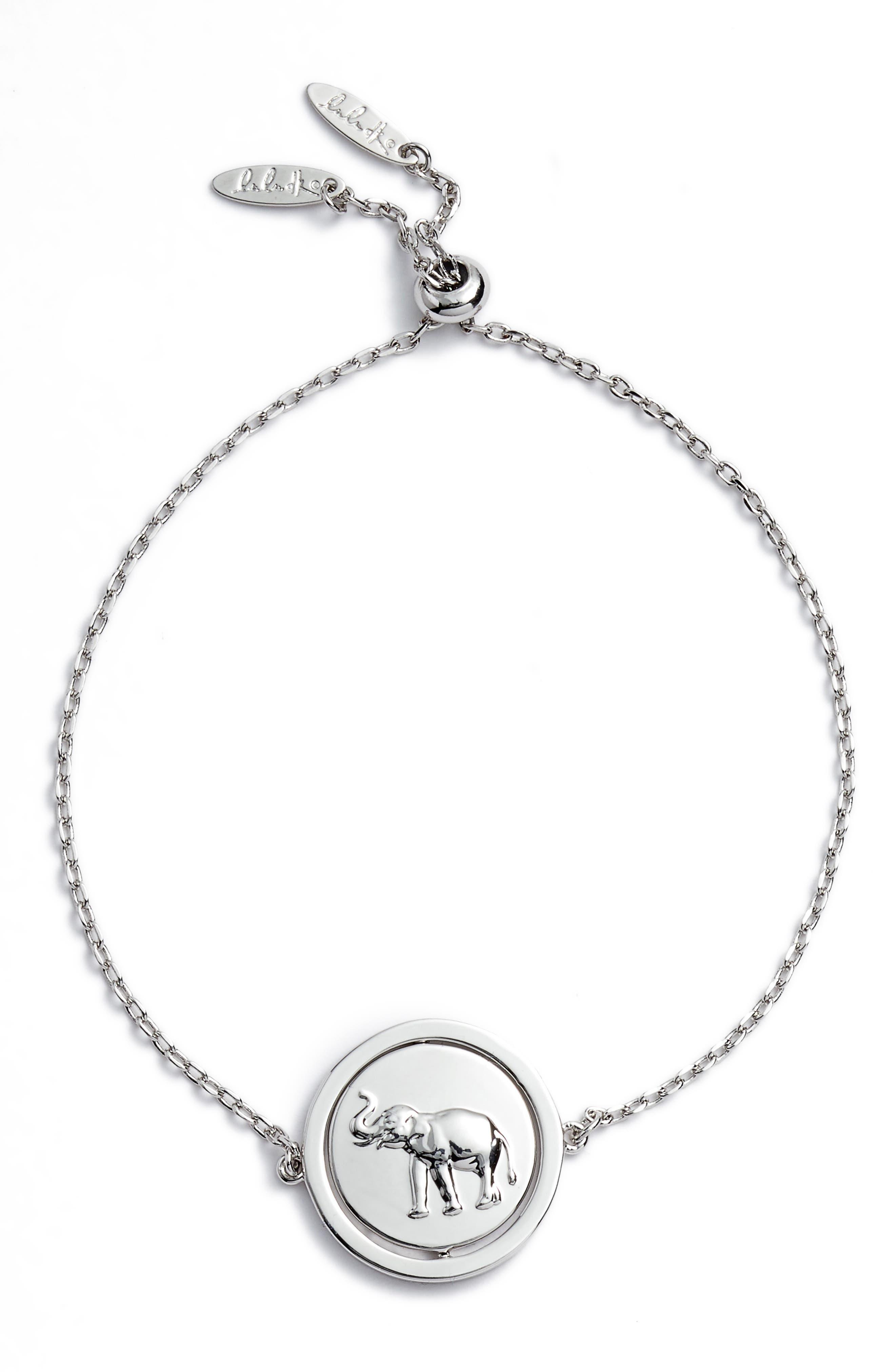 Small Spinning Pendant Bracelet,                             Alternate thumbnail 8, color,