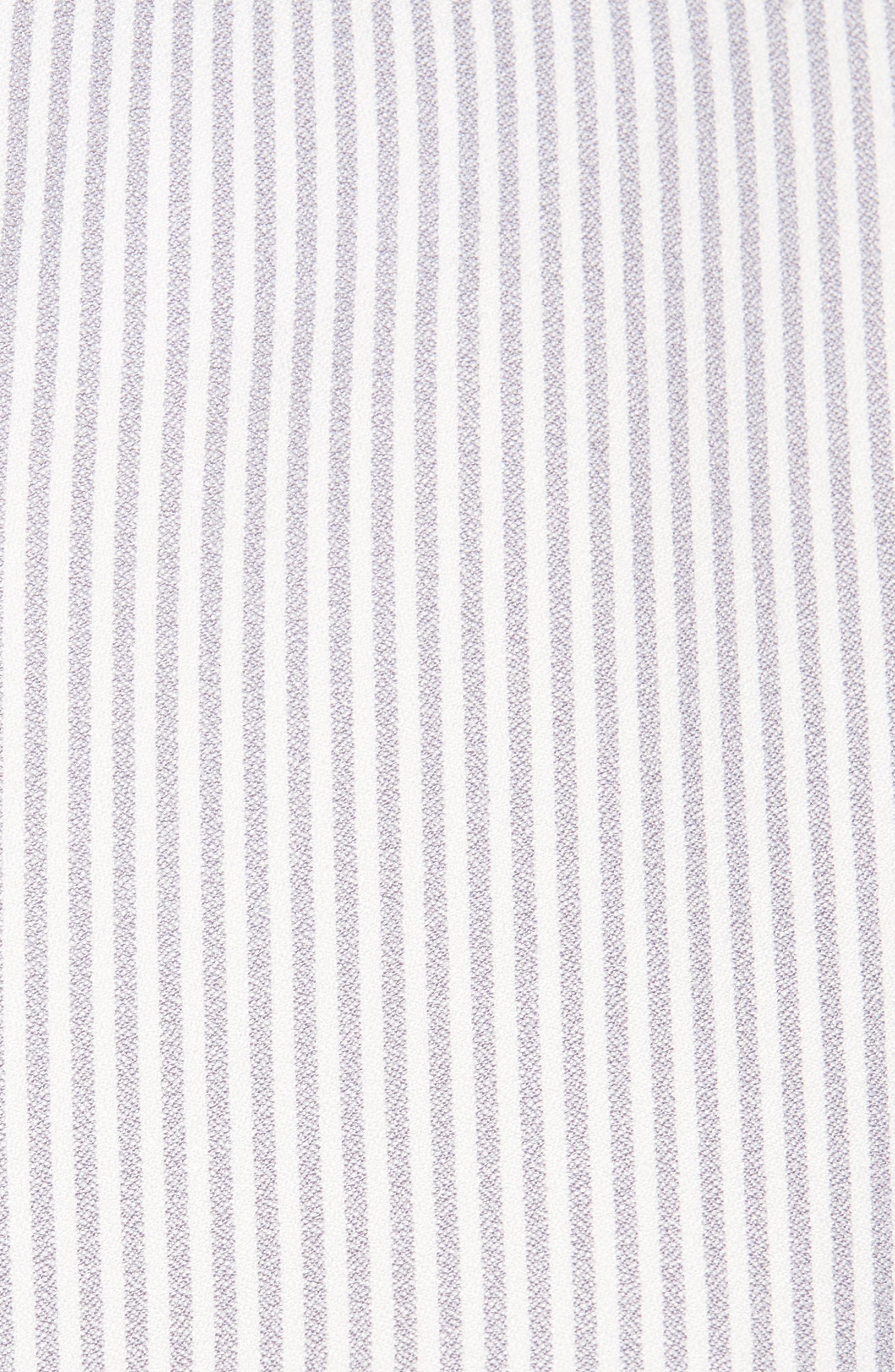 Tie Front Striped Blouse,                             Alternate thumbnail 6, color,                             020