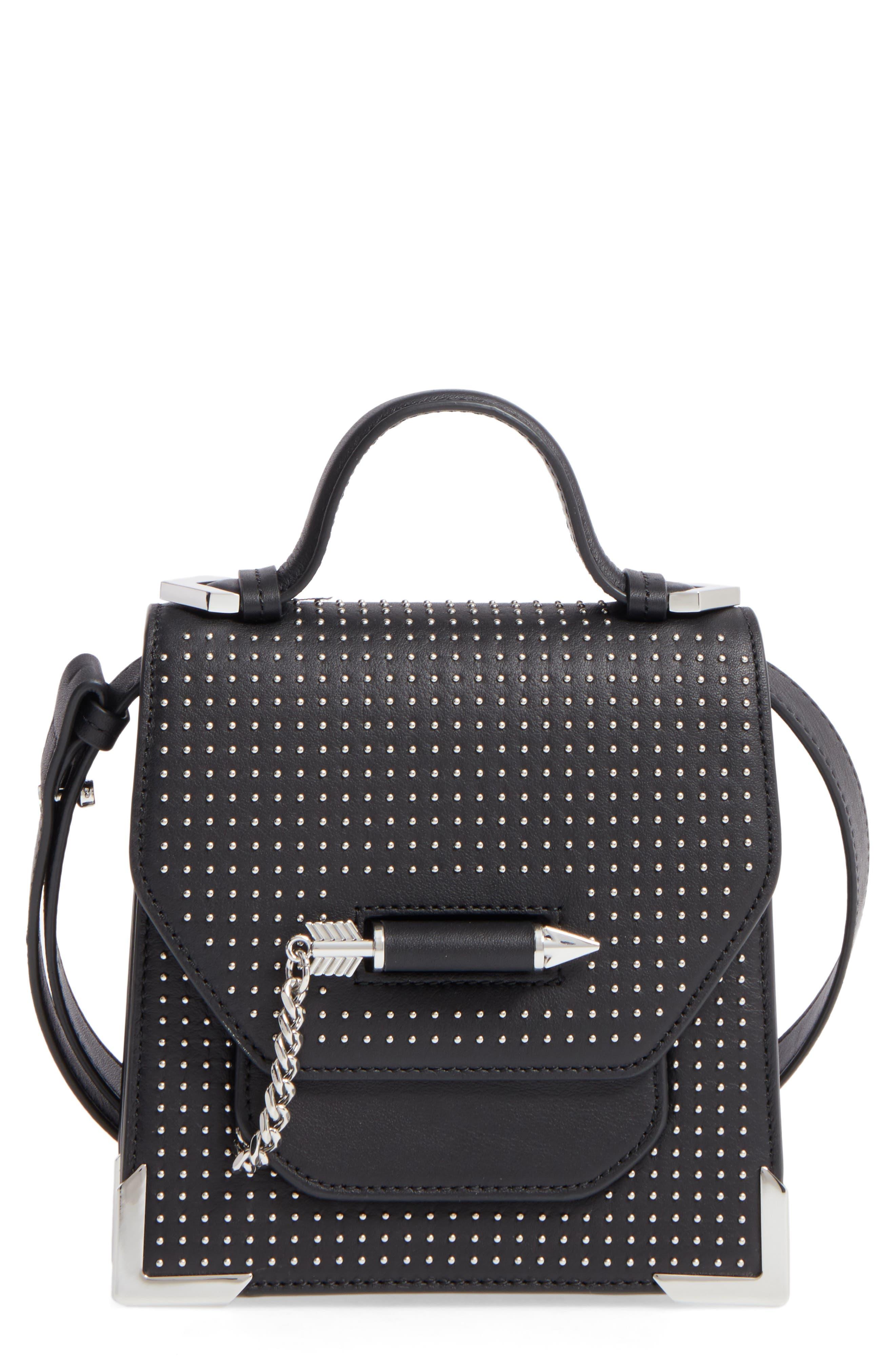 MACKAGE Mini Rubie Leather Crossbody Bag, Main, color, 001