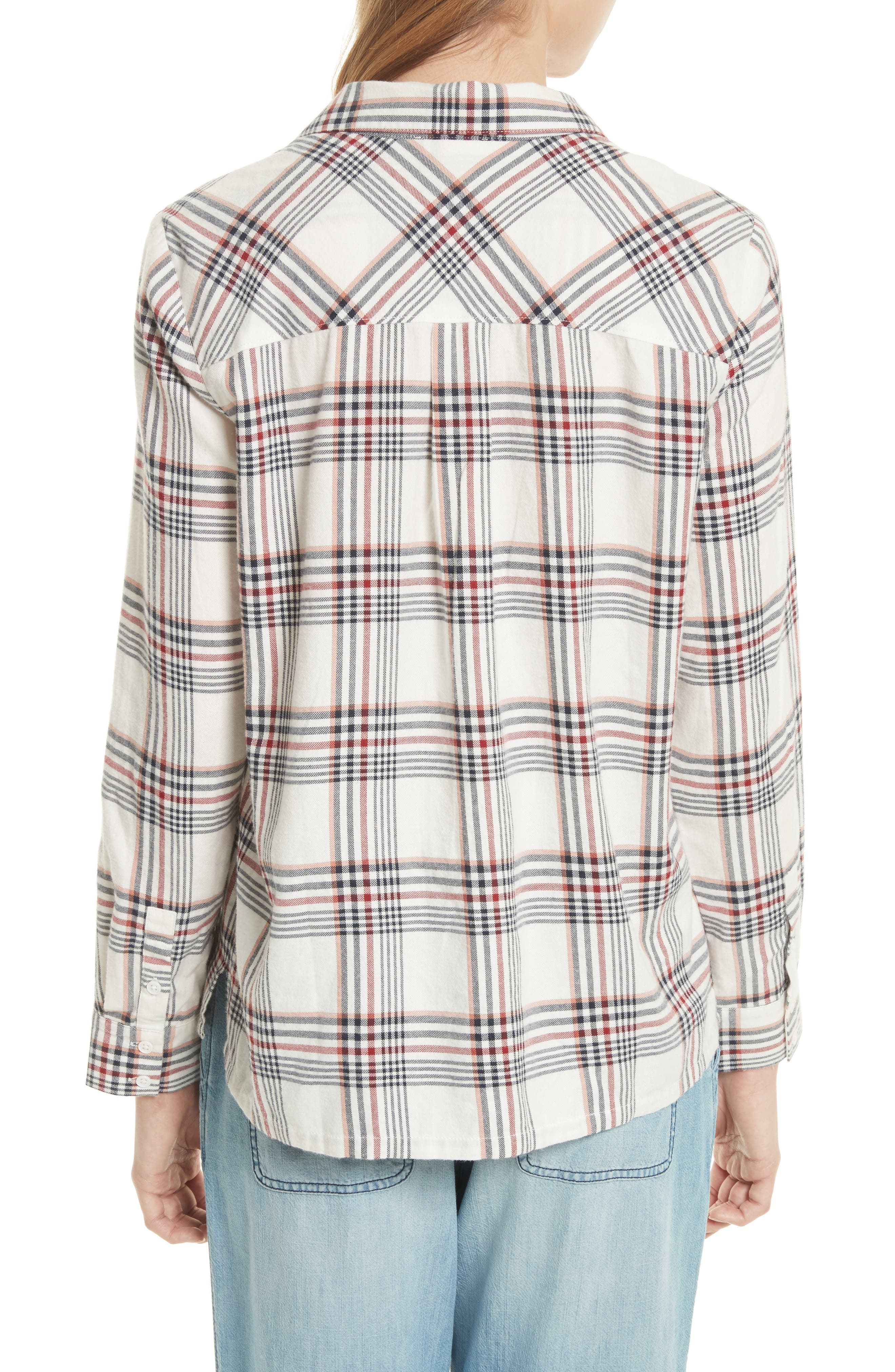 Antolina Plaid Cotton Top,                             Alternate thumbnail 2, color,