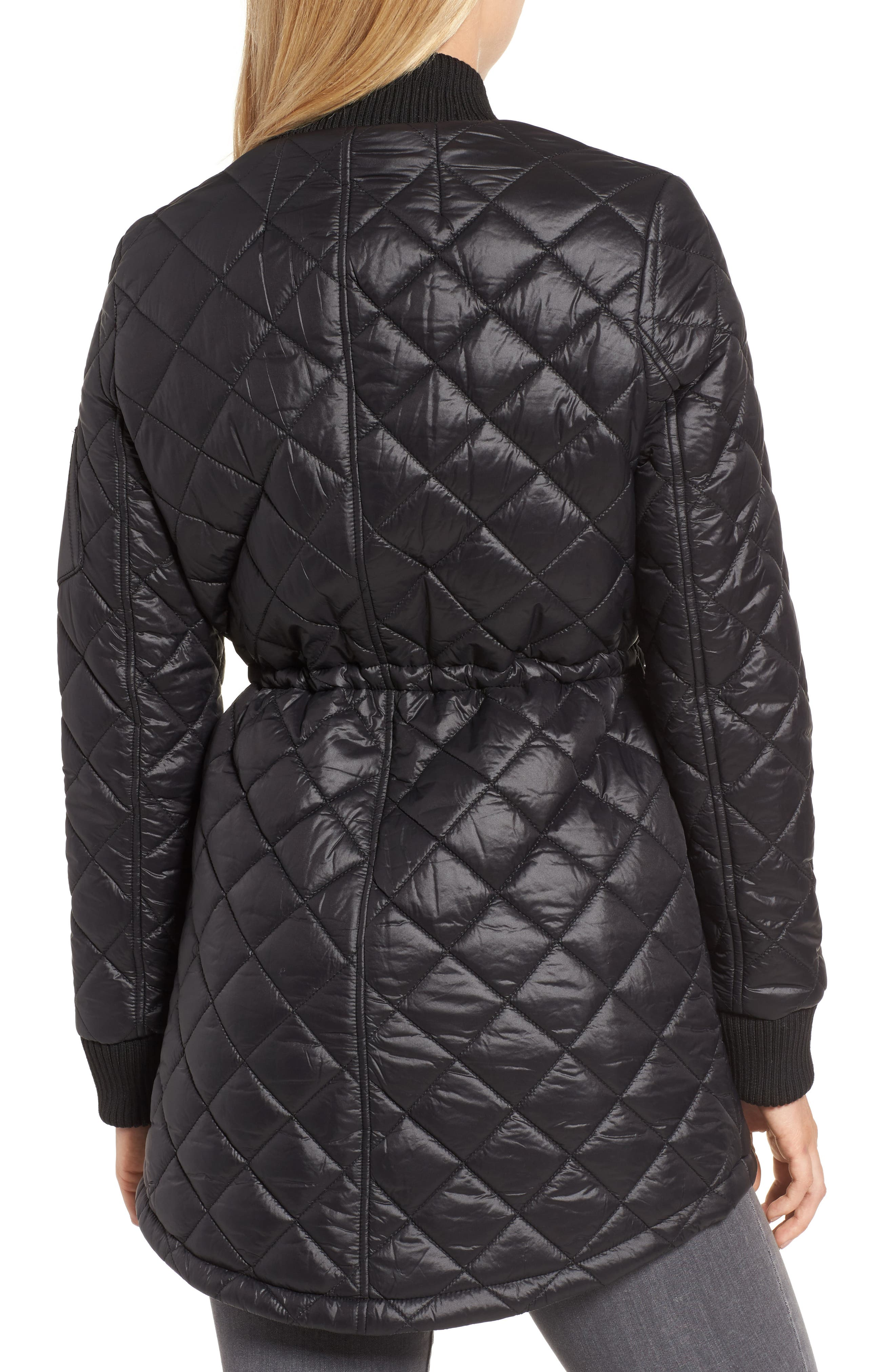 Quilted Anorak Jacket,                             Alternate thumbnail 2, color,                             001