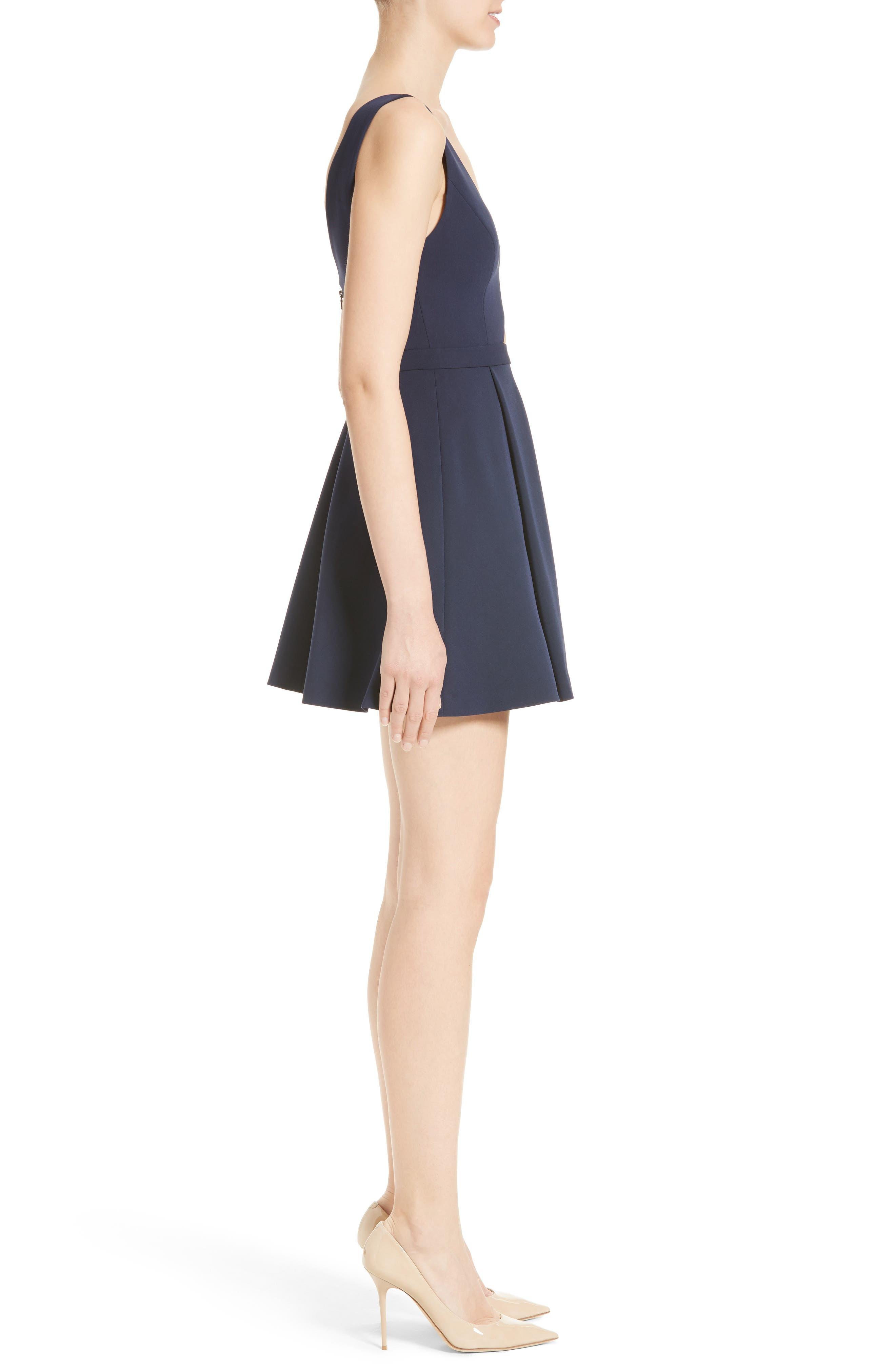 Nina Cutout Fit & Flare Dress,                             Alternate thumbnail 3, color,                             410