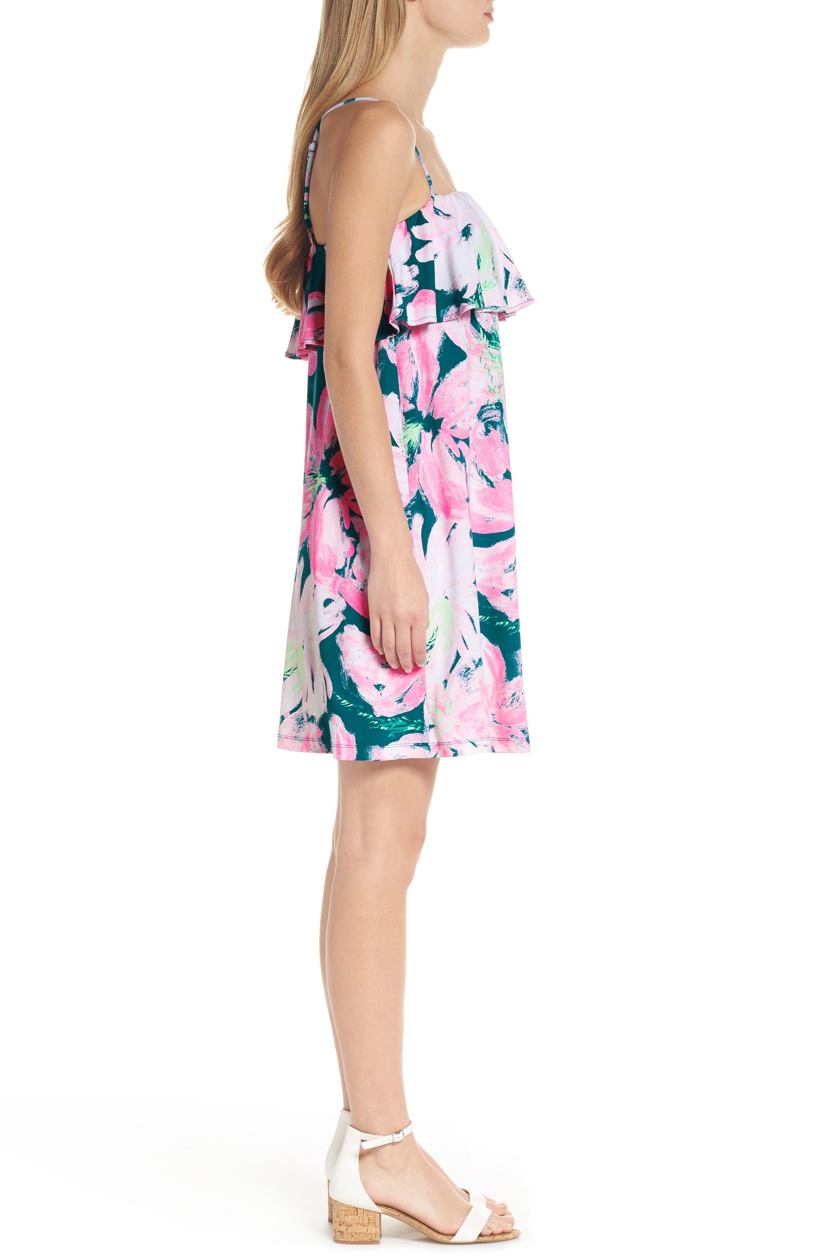 Annastasha Popover Shift Dress,                             Alternate thumbnail 3, color,                             440