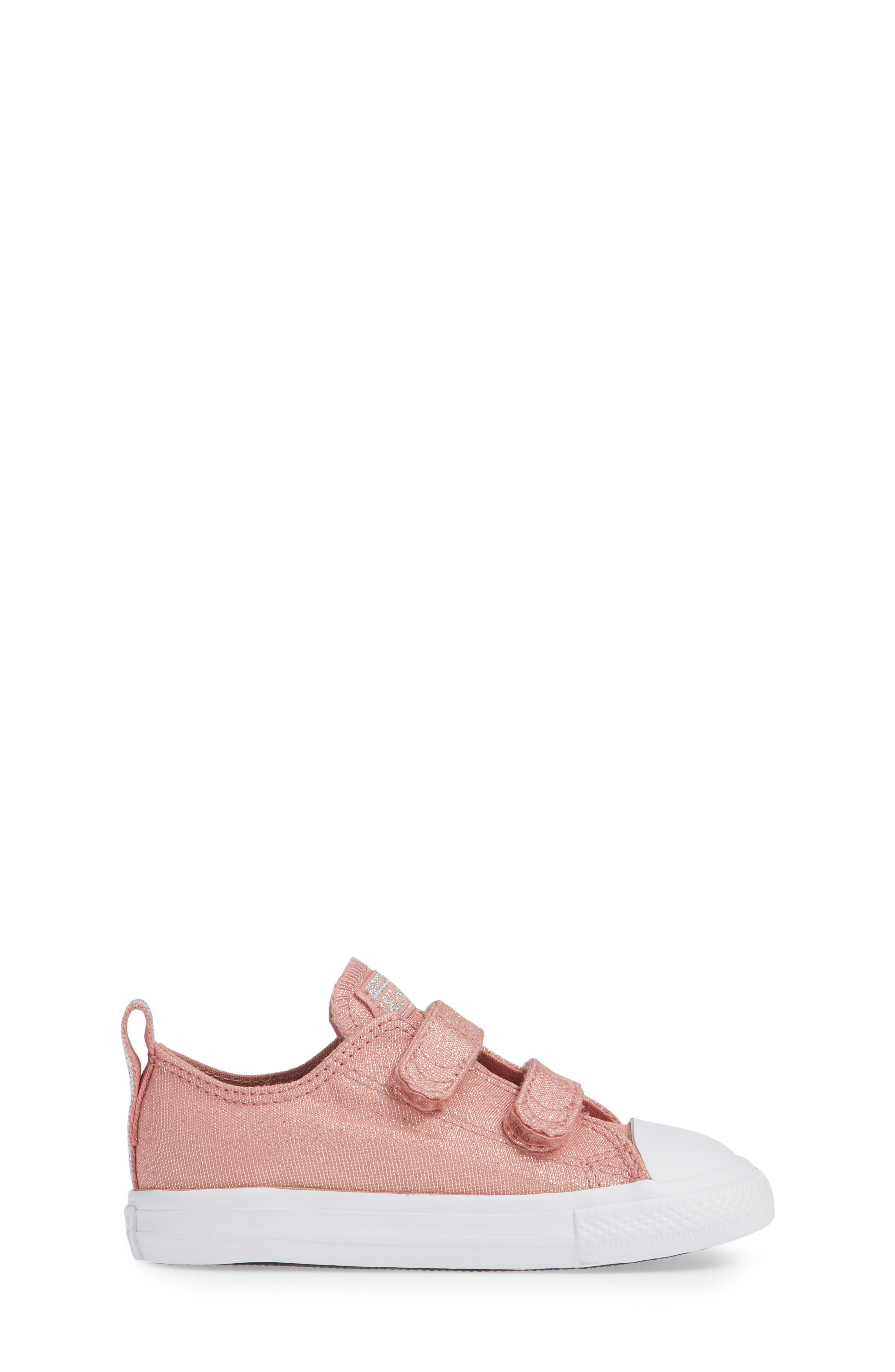 All Star<sup>®</sup> Fairy Dust Sneaker,                             Alternate thumbnail 3, color,                             RUST PINK