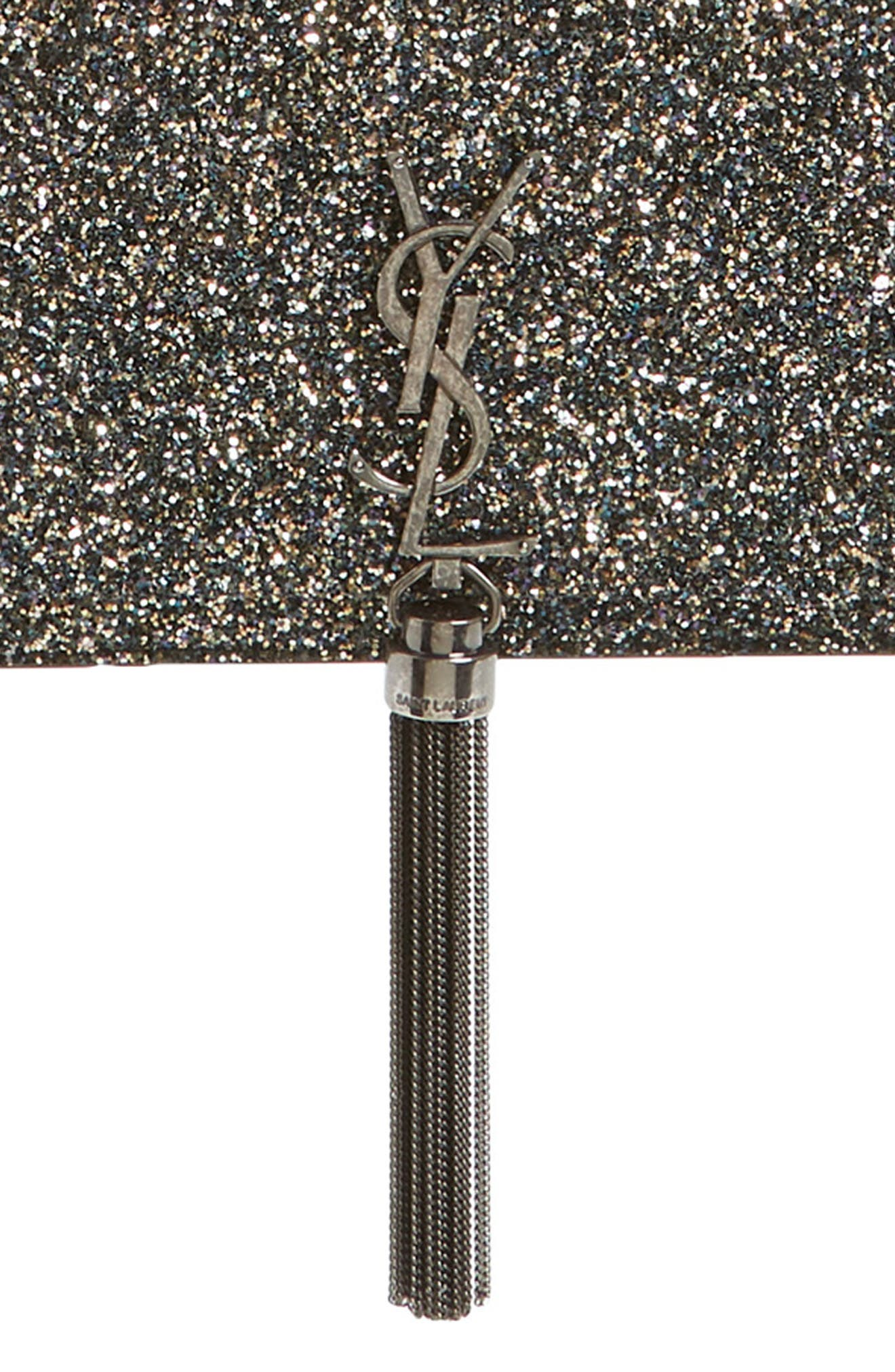 Kate Glitter Wallet on a Chain,                             Alternate thumbnail 8, color,                             OLIVE/ NERO
