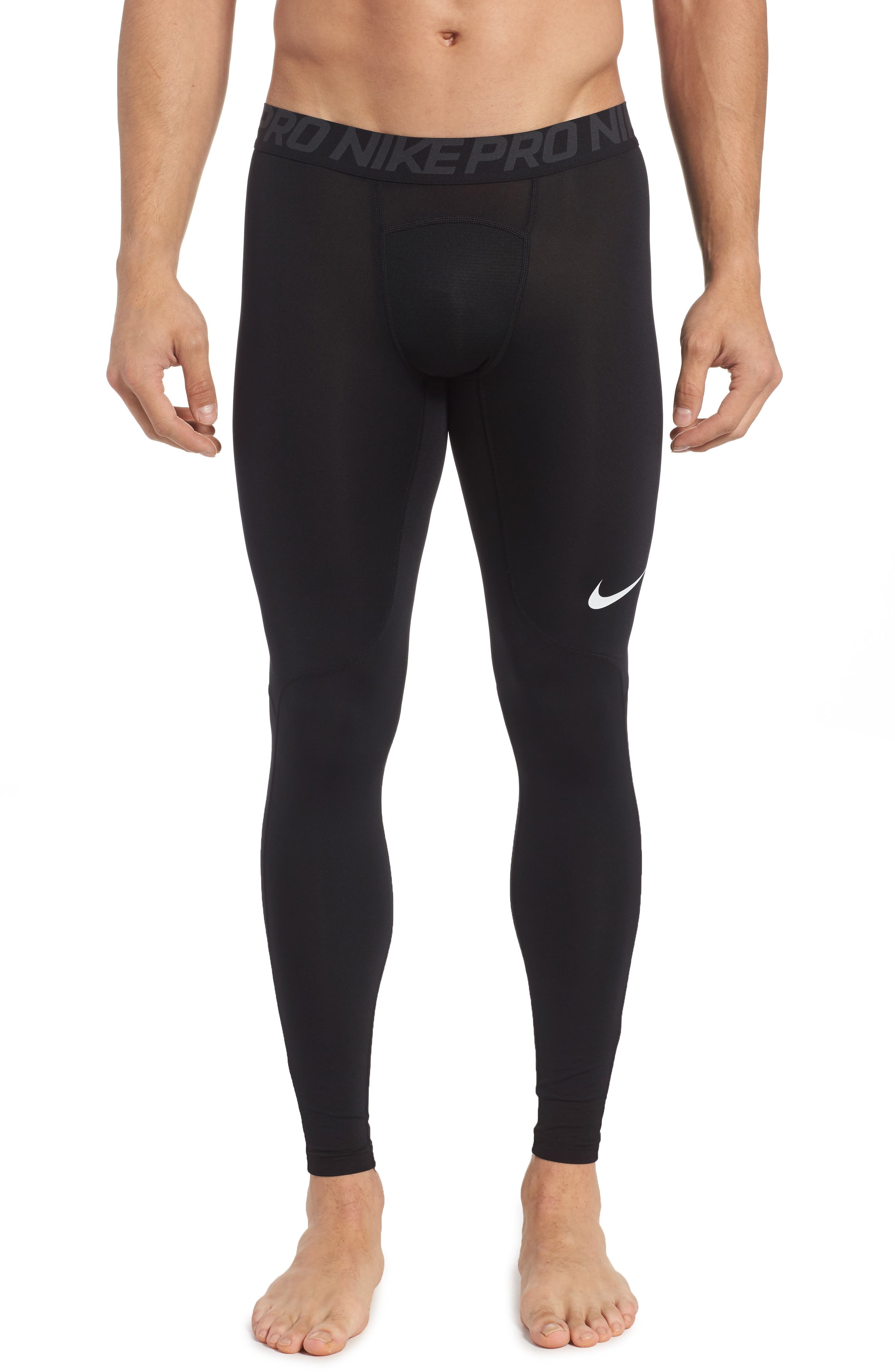 Pro Athletic Tights,                         Main,                         color, BLACK/ ANTHRACITE/ WHITE