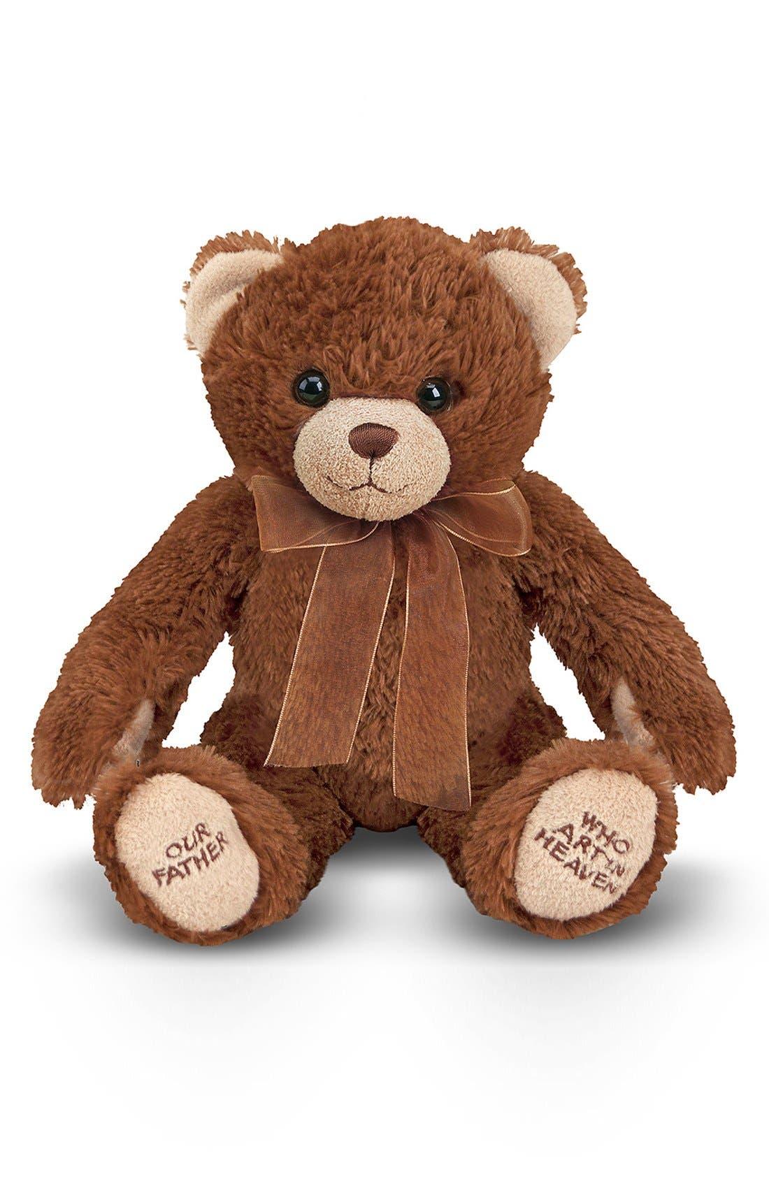 Lord's Prayer Bear Stuffed Animal,                             Main thumbnail 1, color,                             BROWN