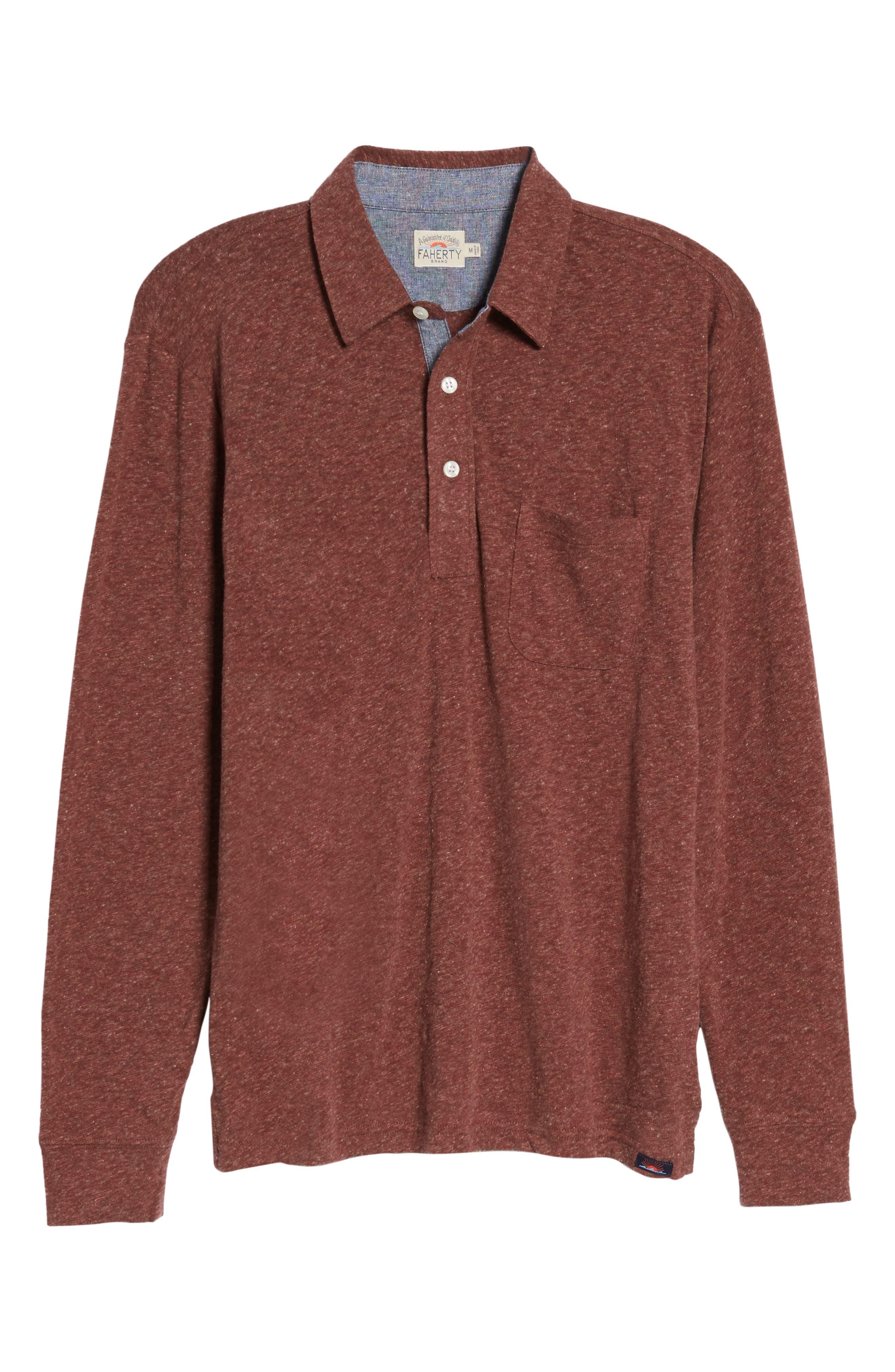 Long Sleeve Polo,                             Alternate thumbnail 6, color,                             930