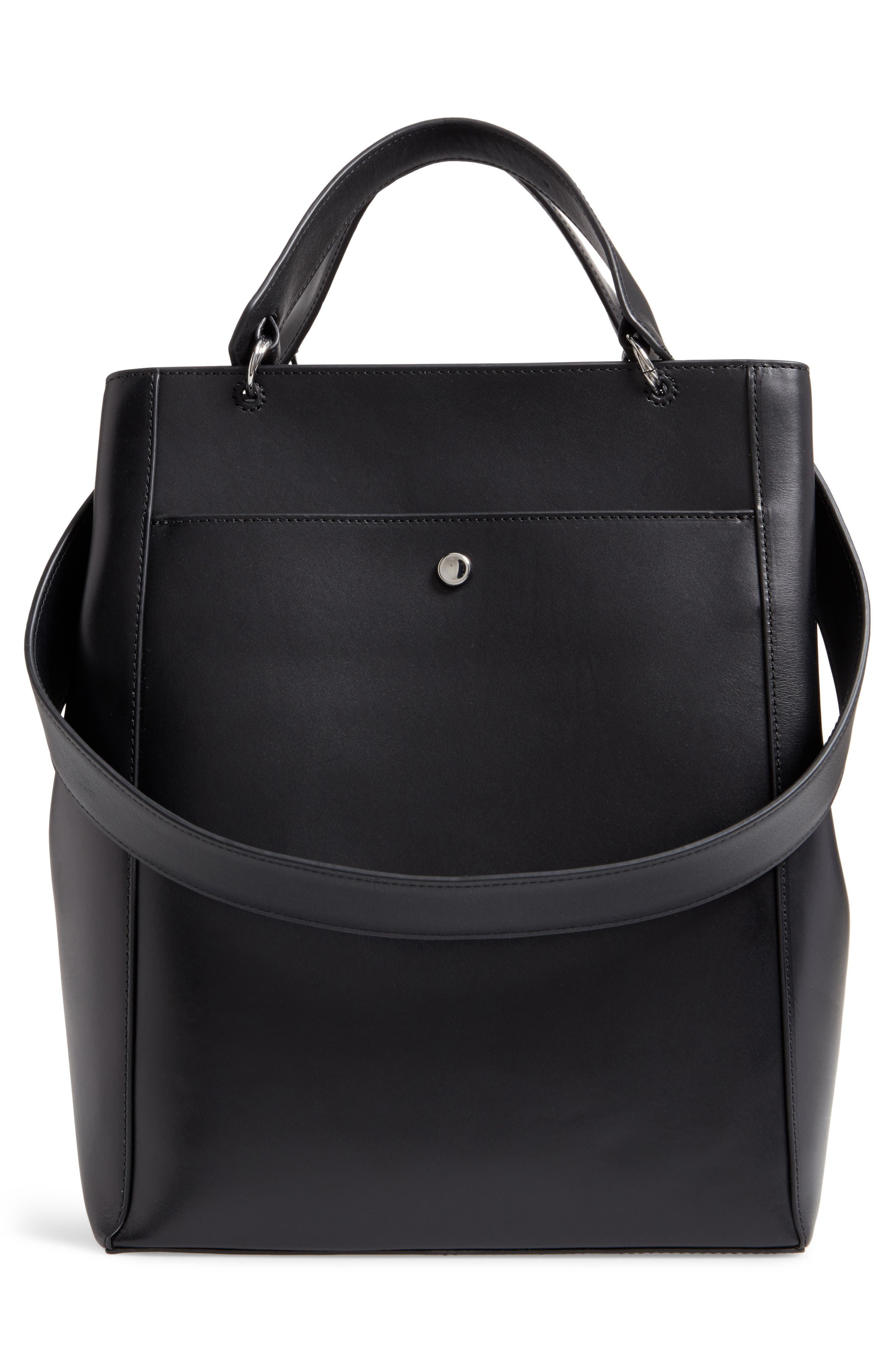 Large Eloise Leather Tote,                             Alternate thumbnail 3, color,                             001