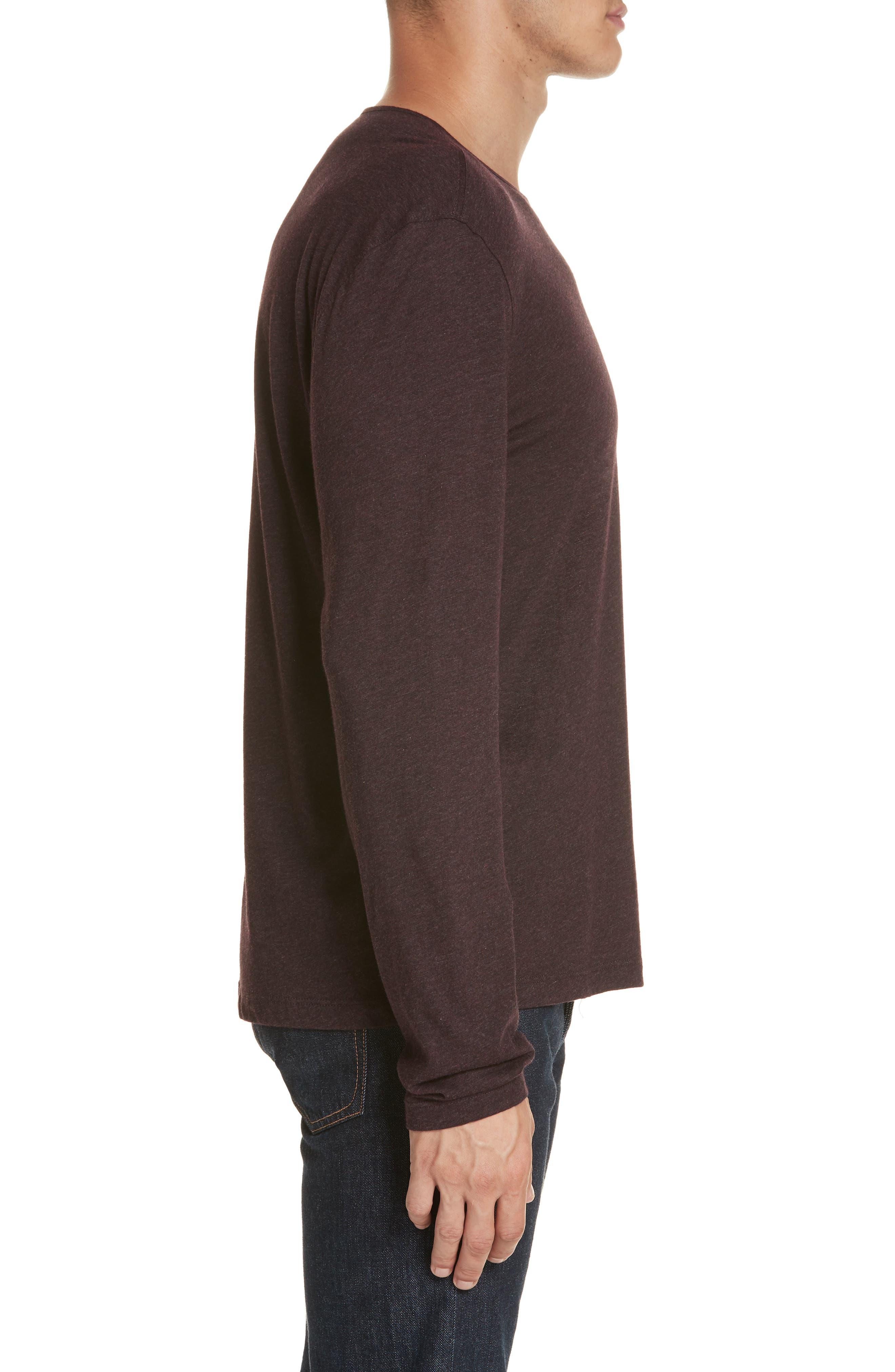 Long Sleeve T-Shirt,                             Alternate thumbnail 3, color,                             PORT