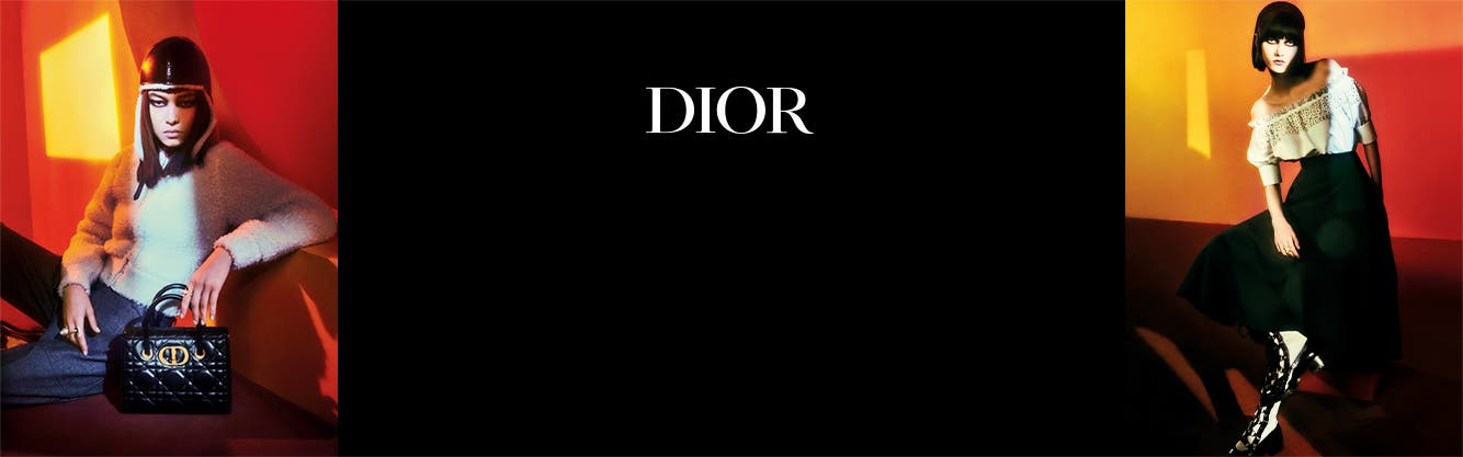 Women wearing Dior clothing, shoes and accessories.
