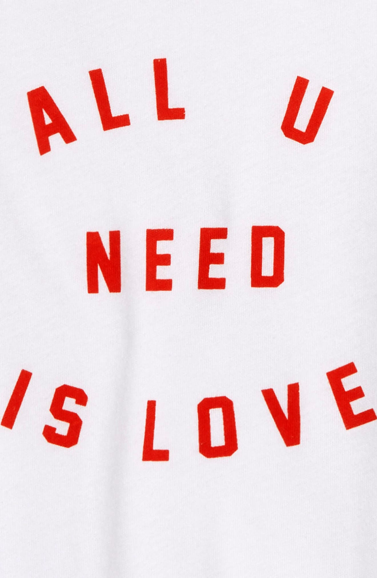 All U Need Is Love Top,                             Alternate thumbnail 2, color,                             WHITE
