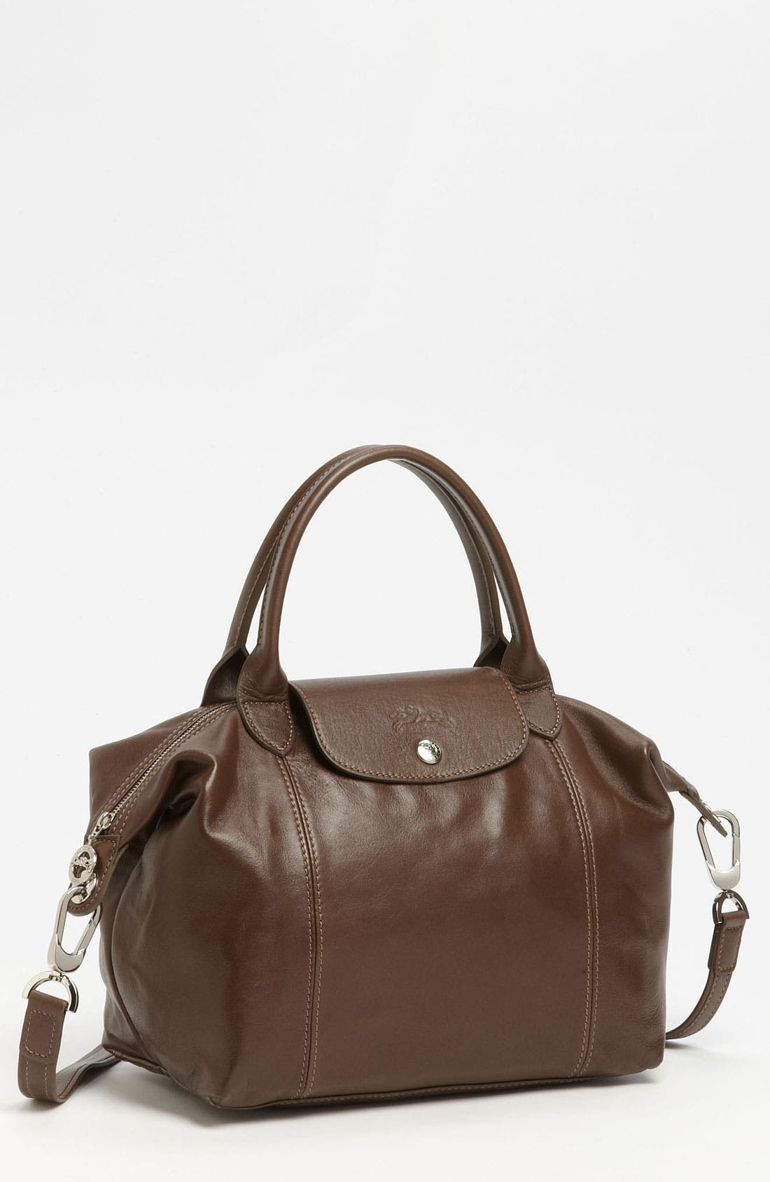 Small 'Le Pliage Cuir' Leather Top Handle Tote,                             Main thumbnail 11, color,