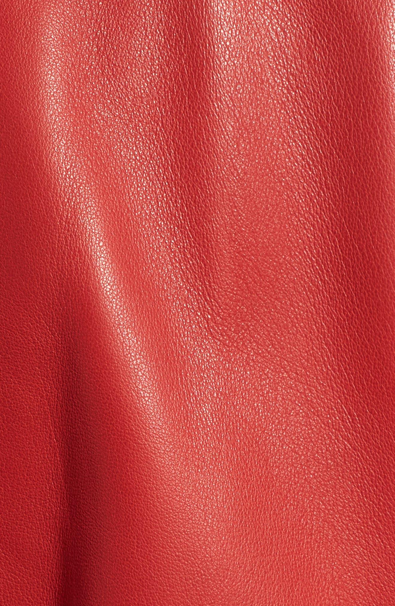 Leather Jacket,                             Alternate thumbnail 7, color,                             RIOT