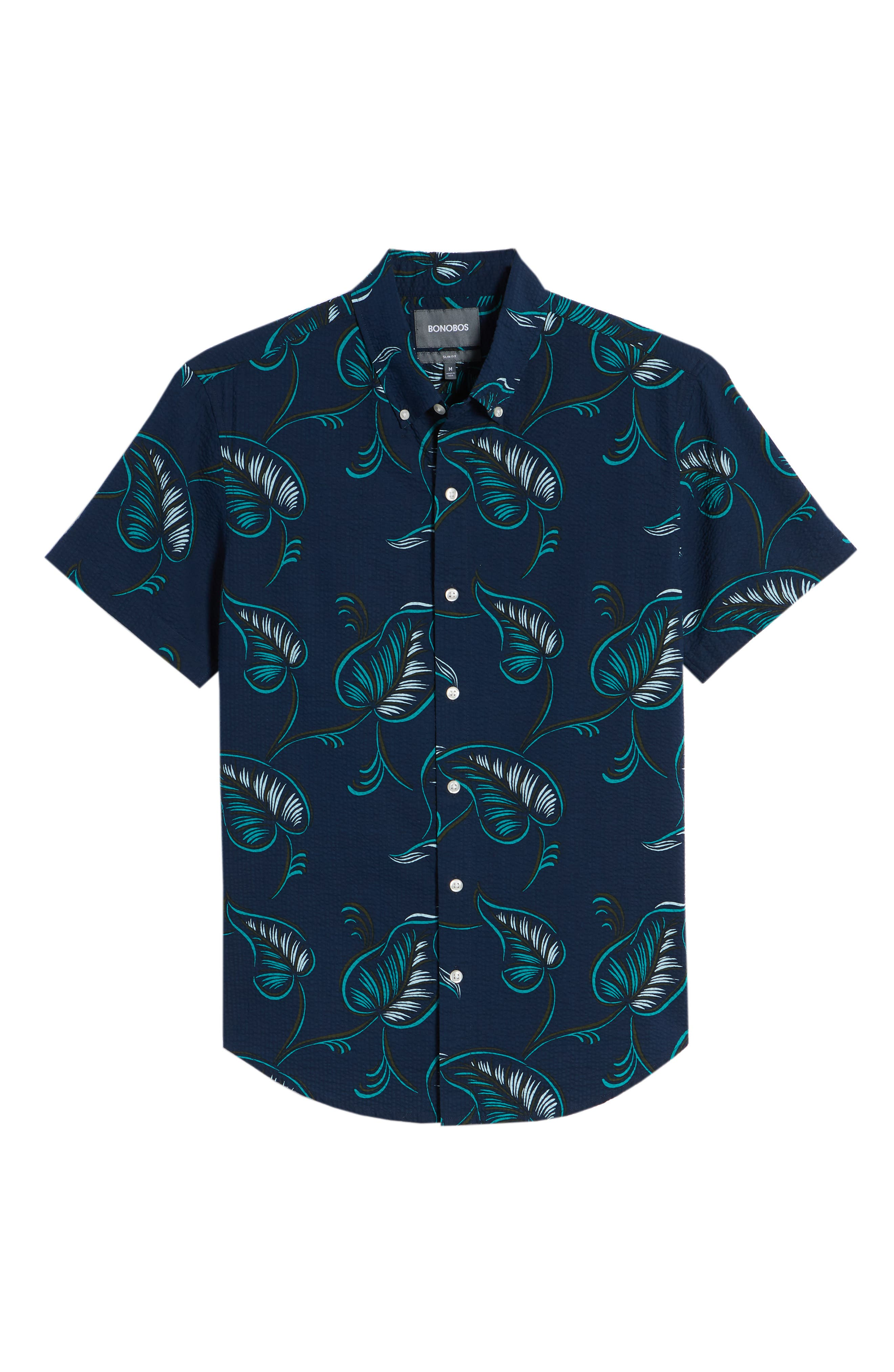 Slim Fit Print Sport Shirt,                             Alternate thumbnail 6, color,                             400