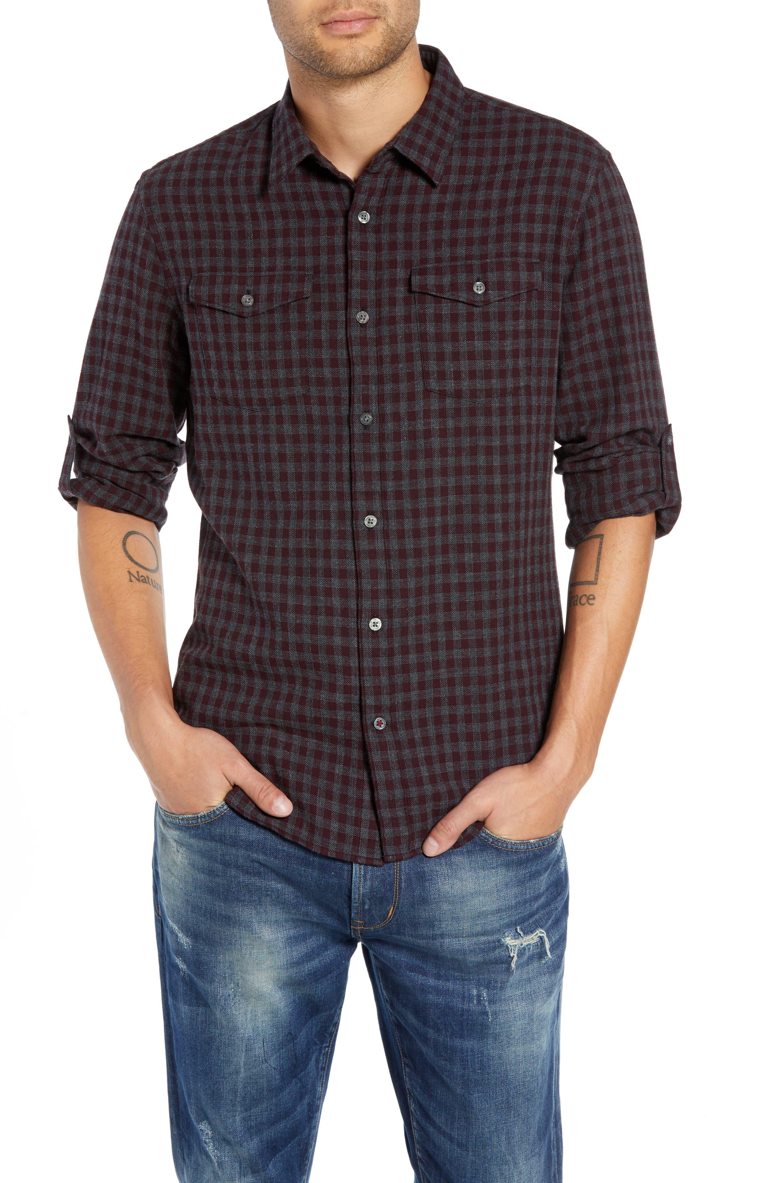 John Varvatos Star Usa Check Flannel Shirt