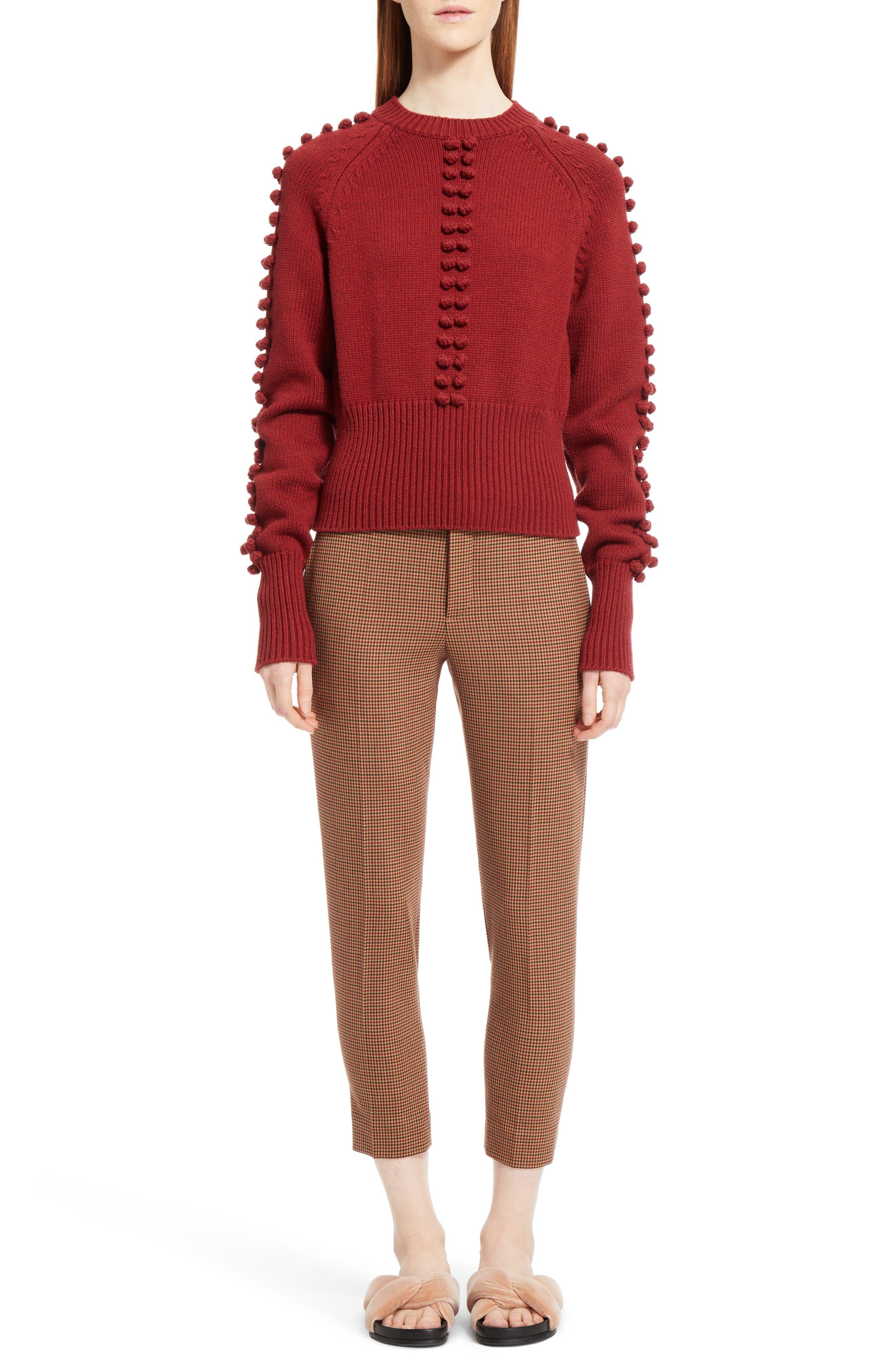Bobble Knit Sweater,                             Alternate thumbnail 6, color,                             620
