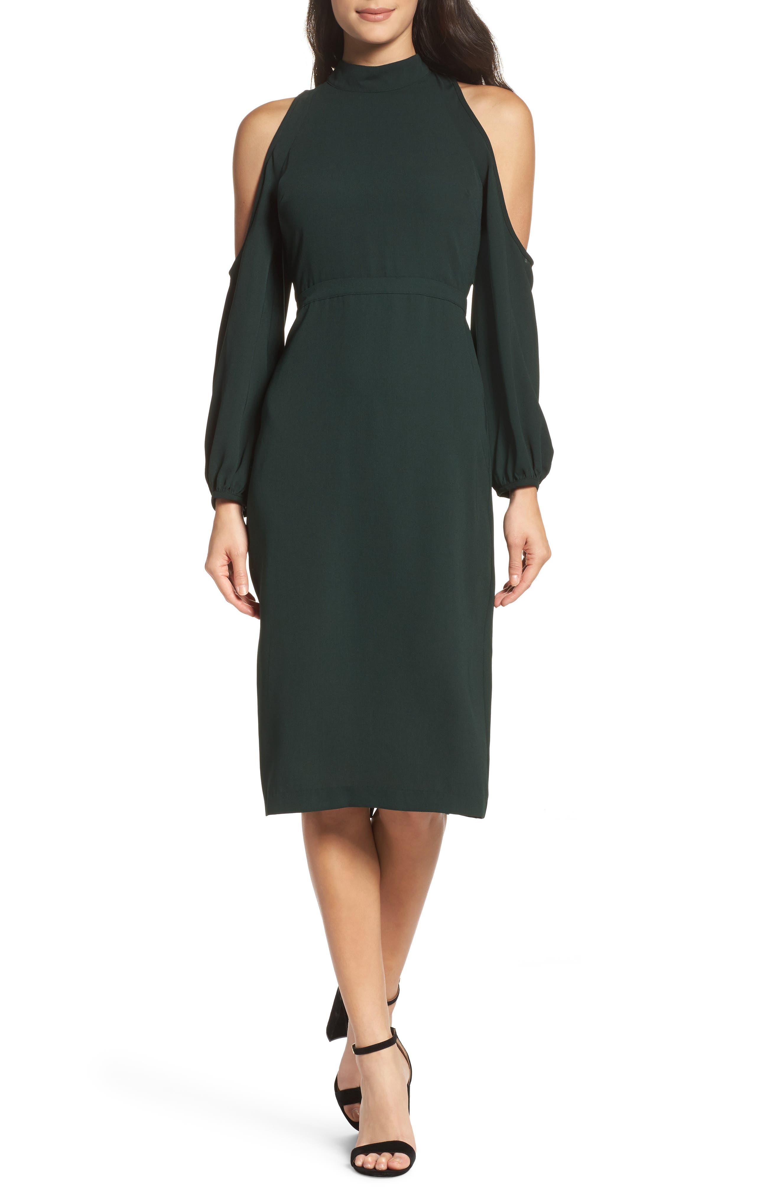 Power Shoulder Sheath Dress,                             Main thumbnail 2, color,