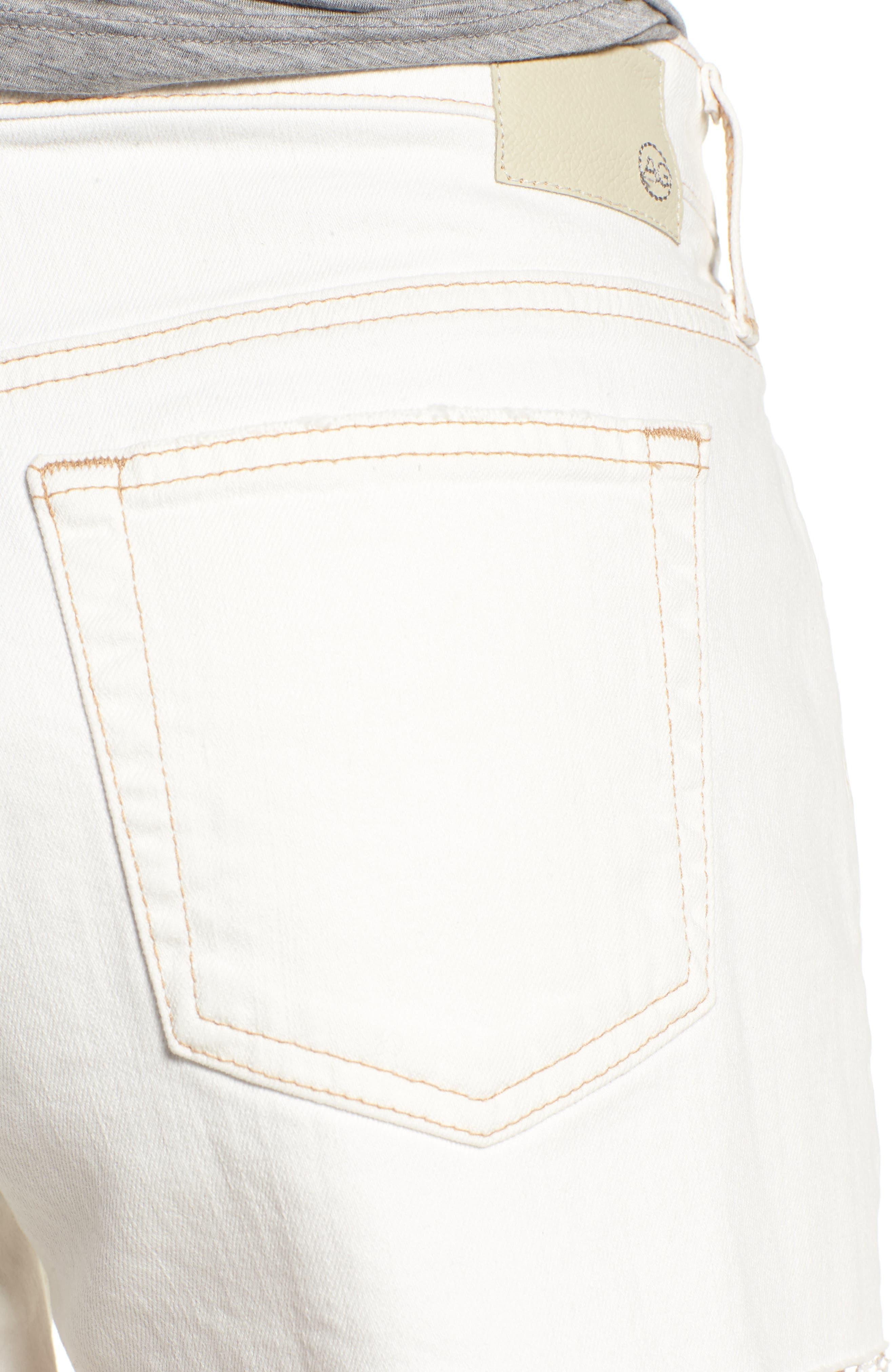 The Bryn High Waist Cutoff Denim Shorts,                             Alternate thumbnail 4, color,                             109