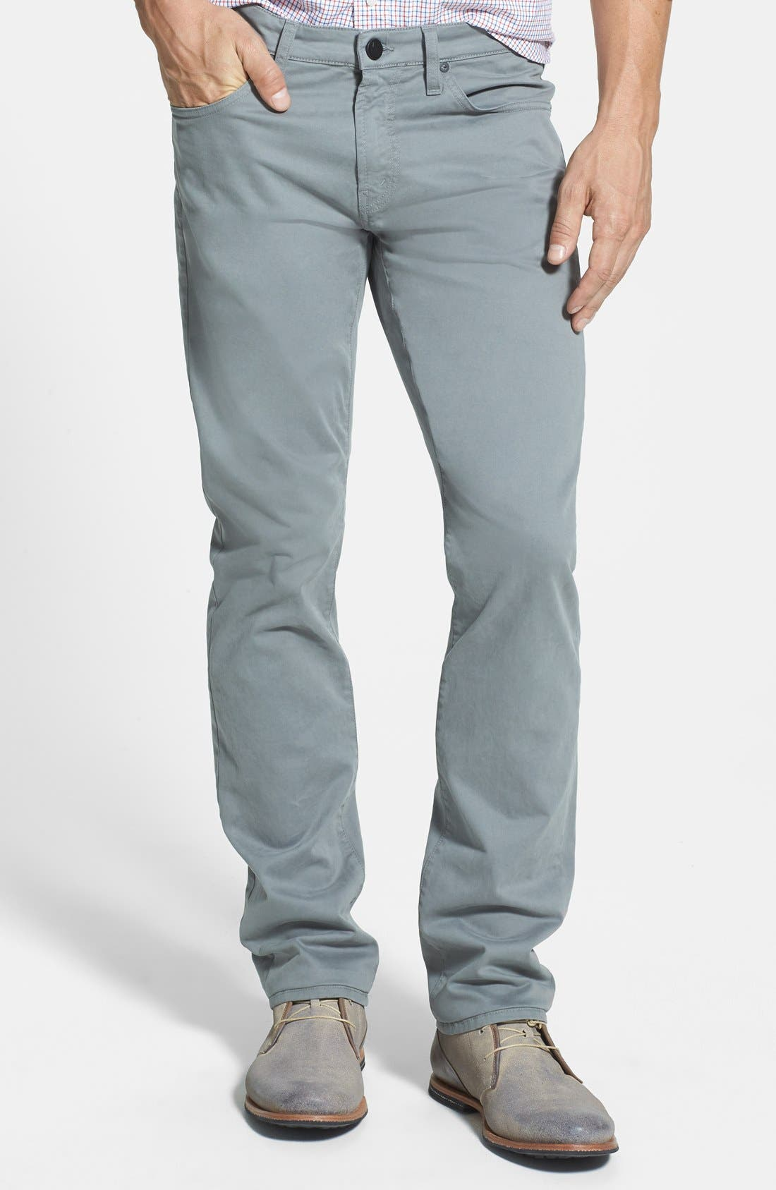 'Kane' Slim Fit Cotton Twill Pants,                             Main thumbnail 7, color,