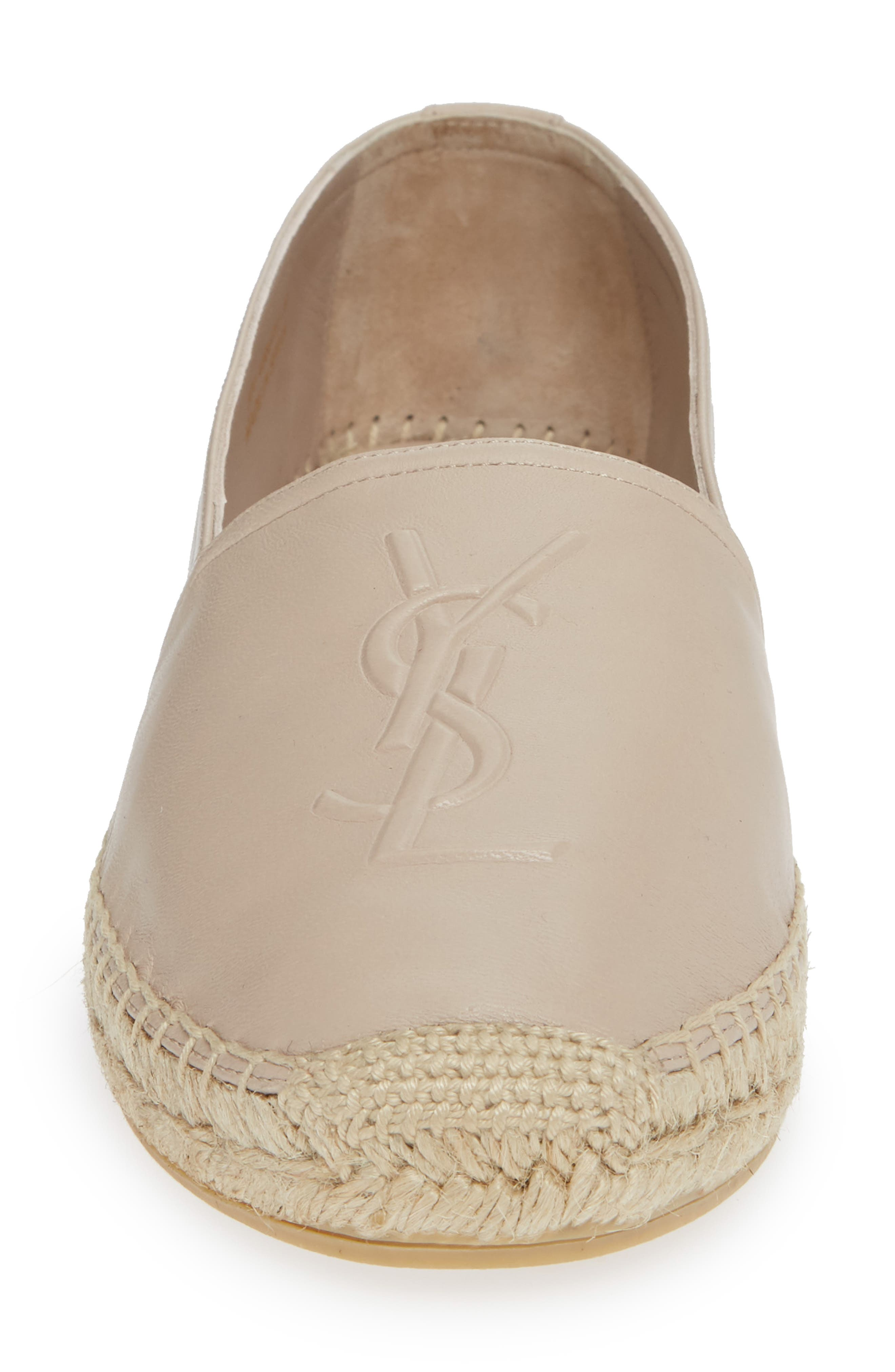 Logo Espadrille,                             Alternate thumbnail 4, color,                             POUDRE
