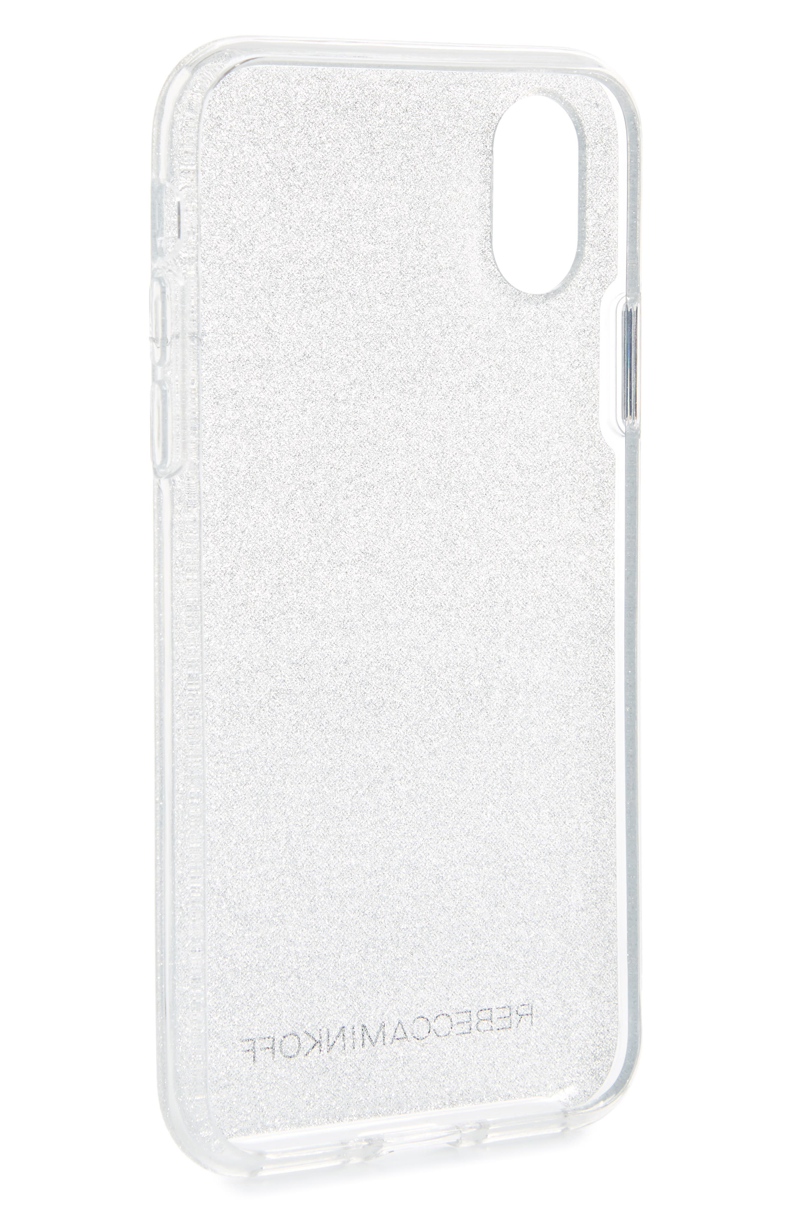 Be More Transparent iPhone X/Xs Case,                             Alternate thumbnail 2, color,                             SILVER GLITTER