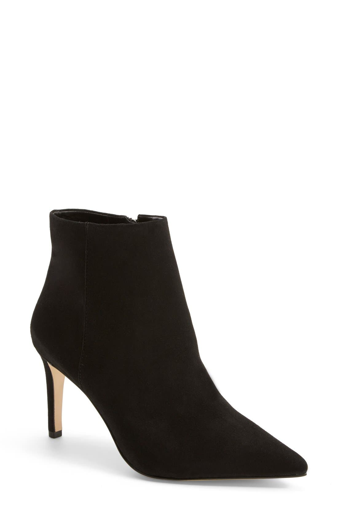 'Karen' Pointy Toe Bootie,                             Main thumbnail 1, color,                             001