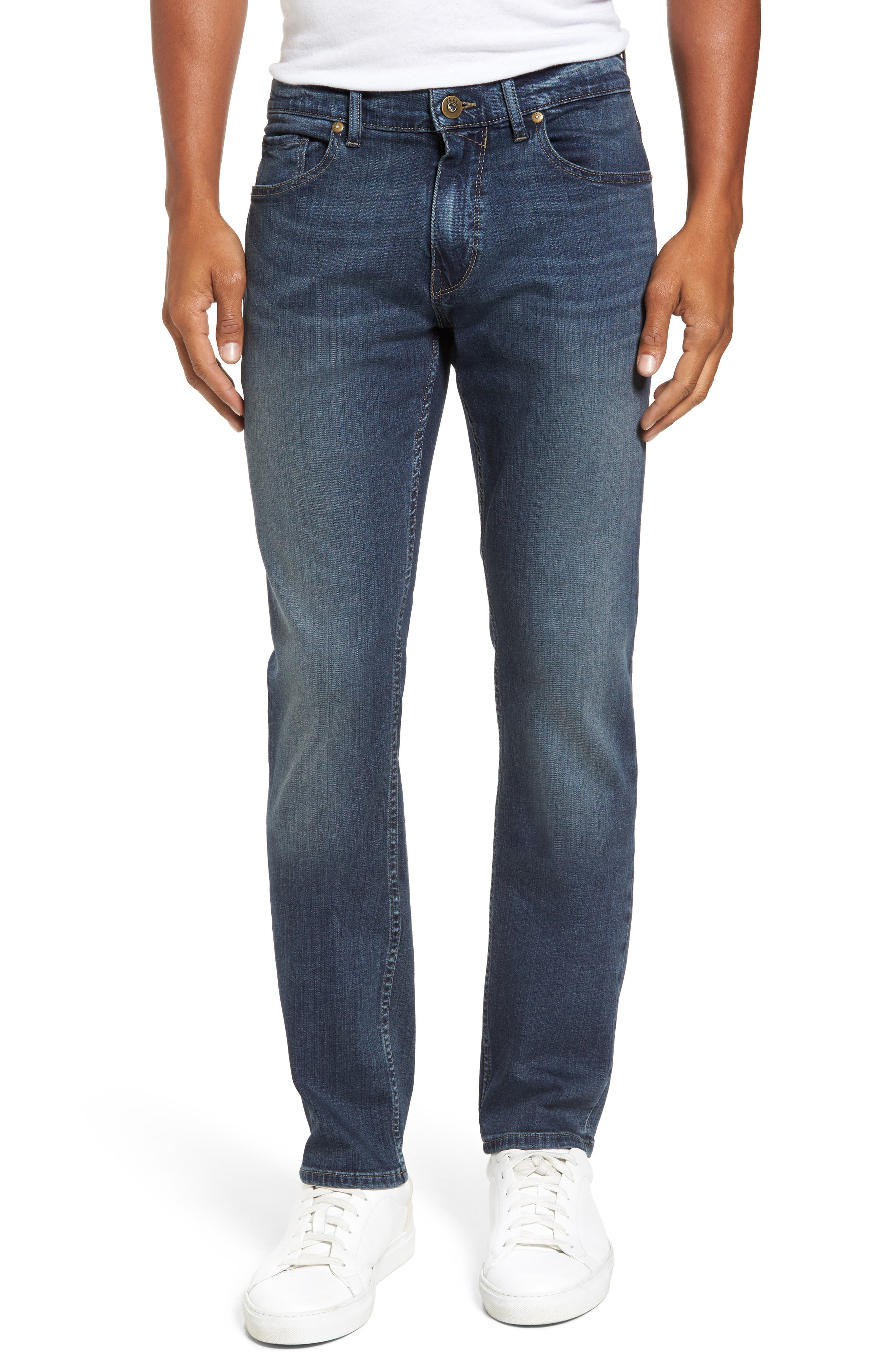 Transcend - Federal Slim Straight Leg Jeans,                             Main thumbnail 1, color,                             400