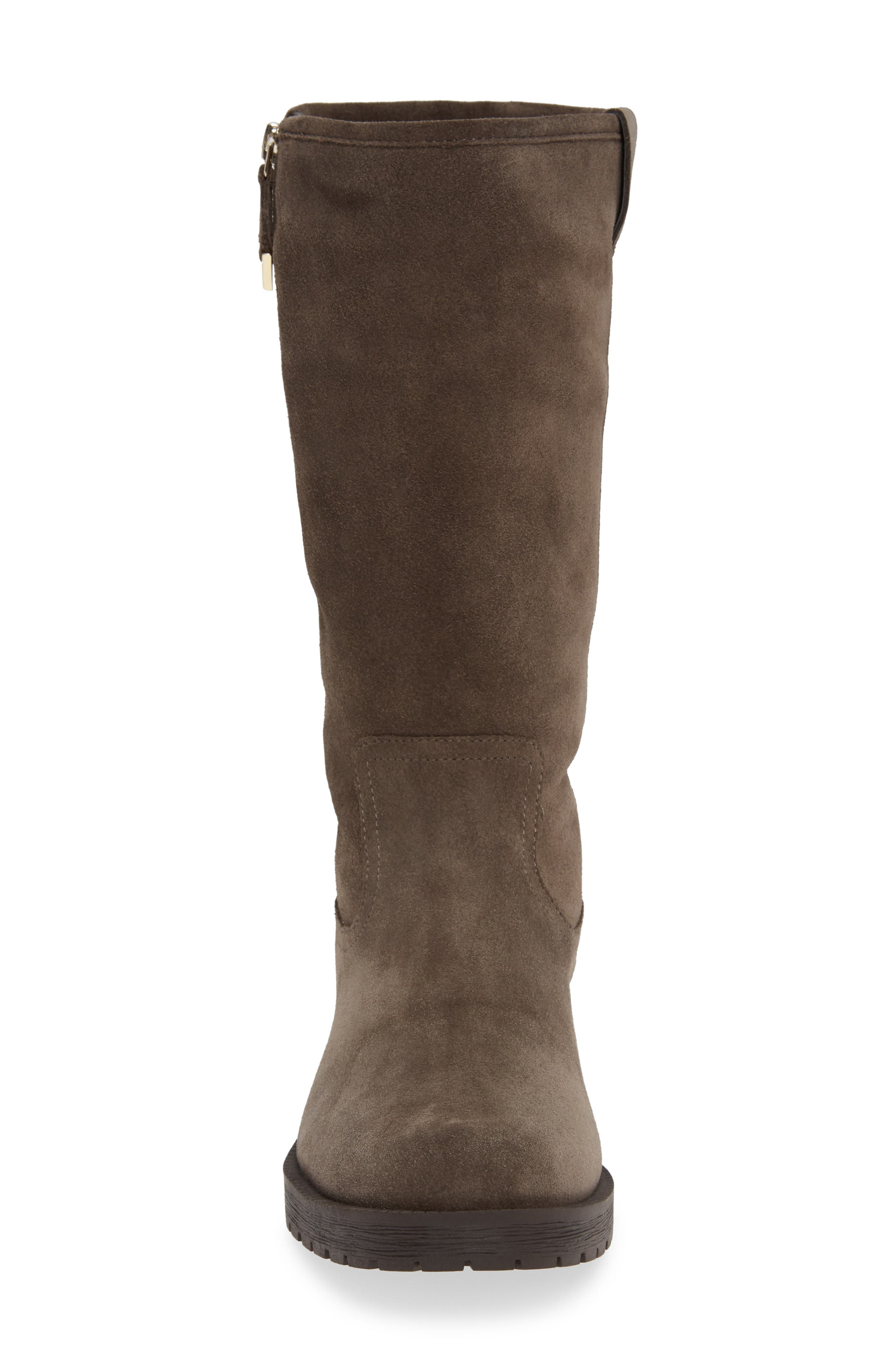 Mica Boot,                             Alternate thumbnail 4, color,                             GREIGE SUEDE