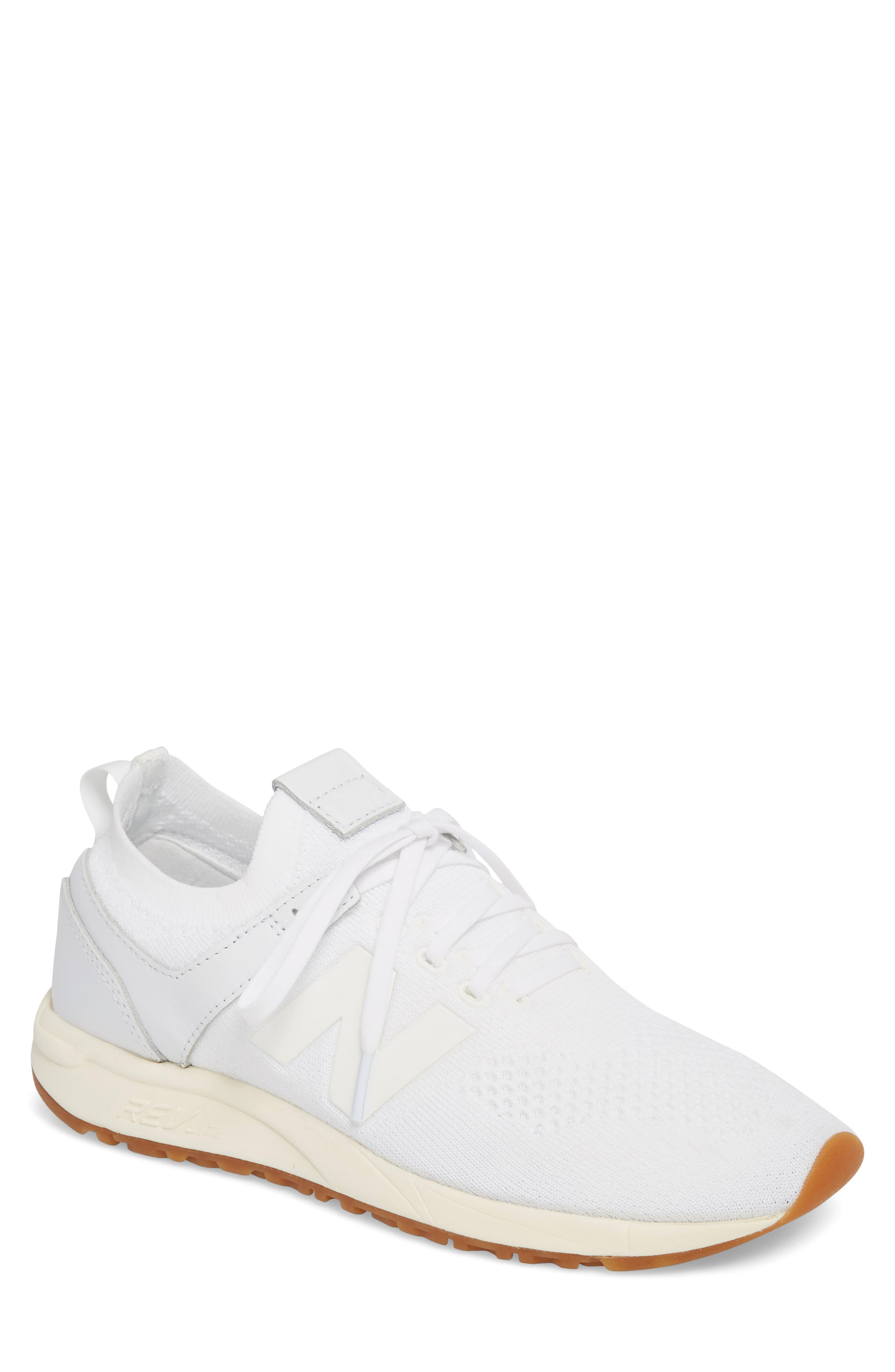 247 Decon Knit Sneaker,                         Main,                         color, WHITE