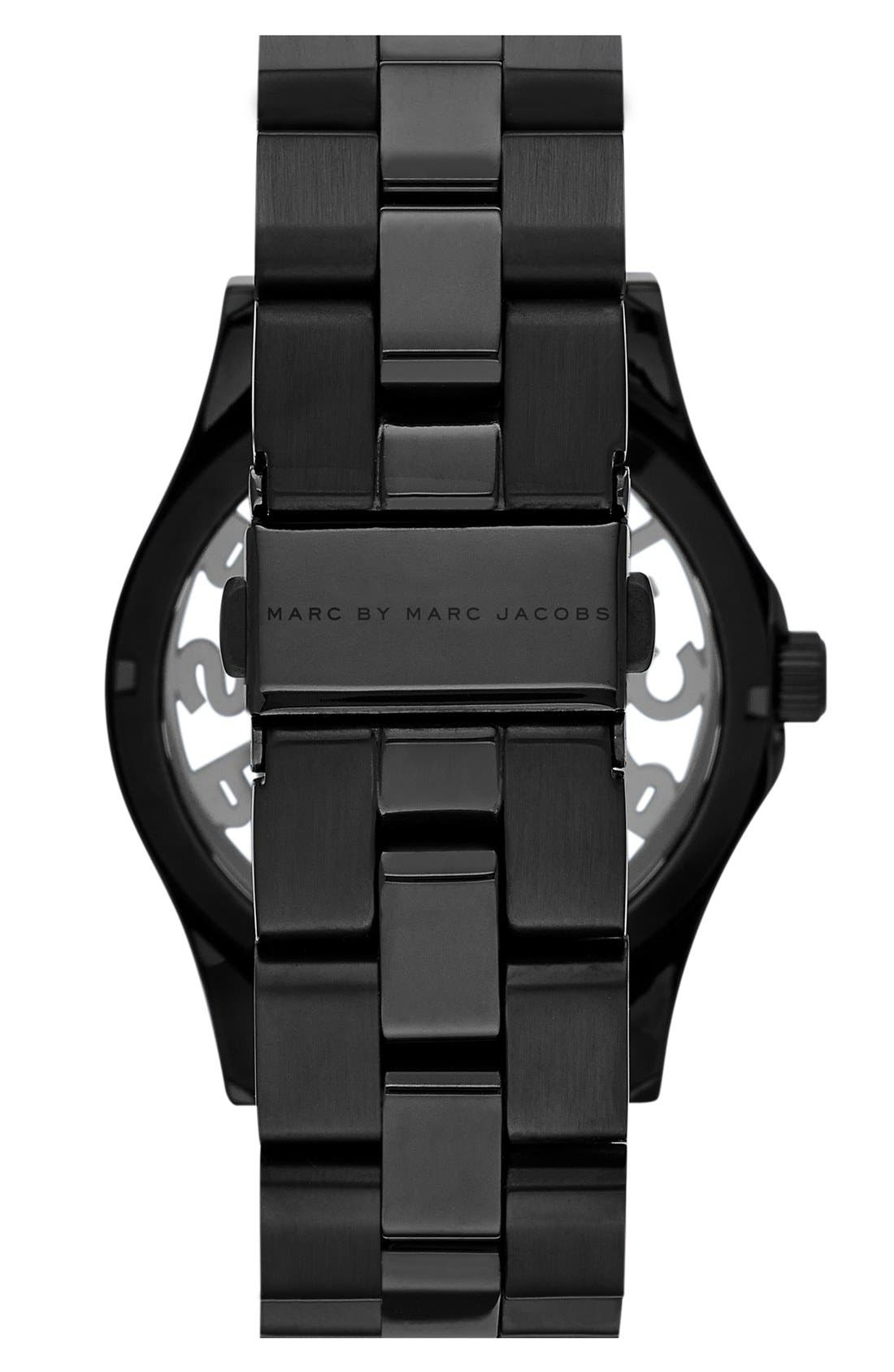 'Henry Skeleton Glitz' Bracelet Watch, 40mm,                             Alternate thumbnail 2, color,                             001