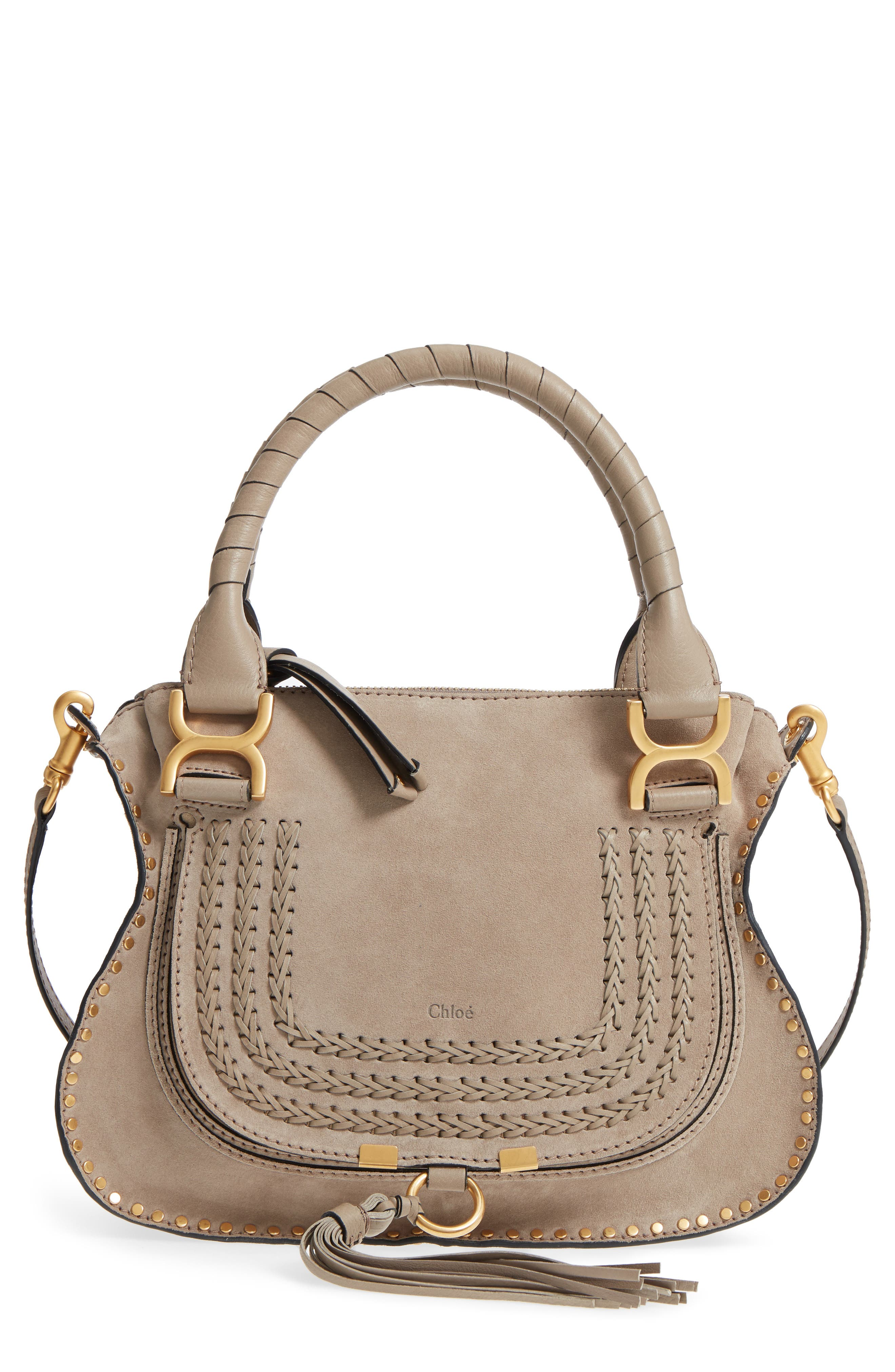 Small Marcie Suede Satchel,                             Main thumbnail 1, color,                             020
