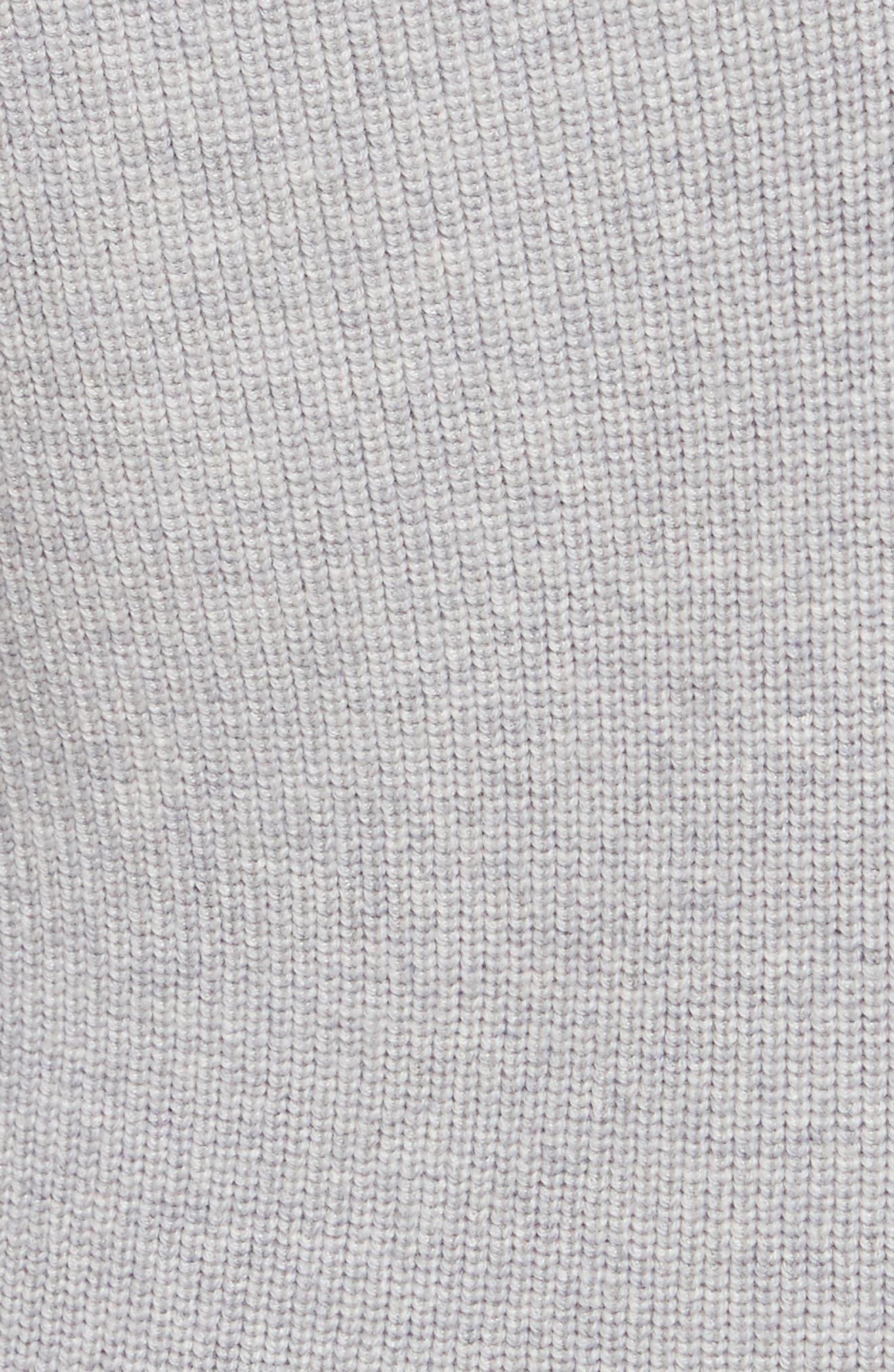 Wool Blend Sweater Dress,                             Alternate thumbnail 5, color,                             023