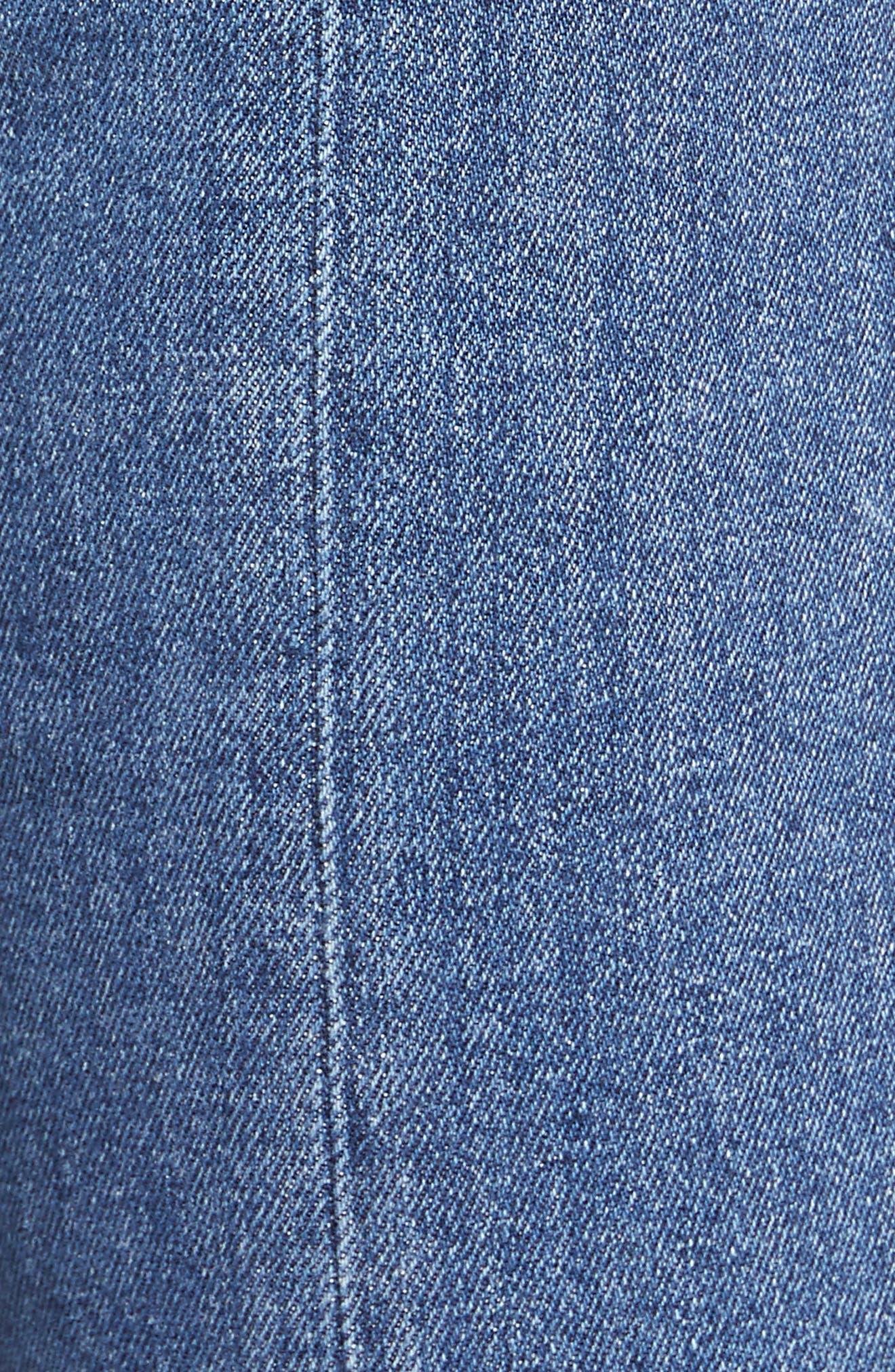 Izzy High Rise Center Seam Slim Jeans,                             Alternate thumbnail 5, color,                             400