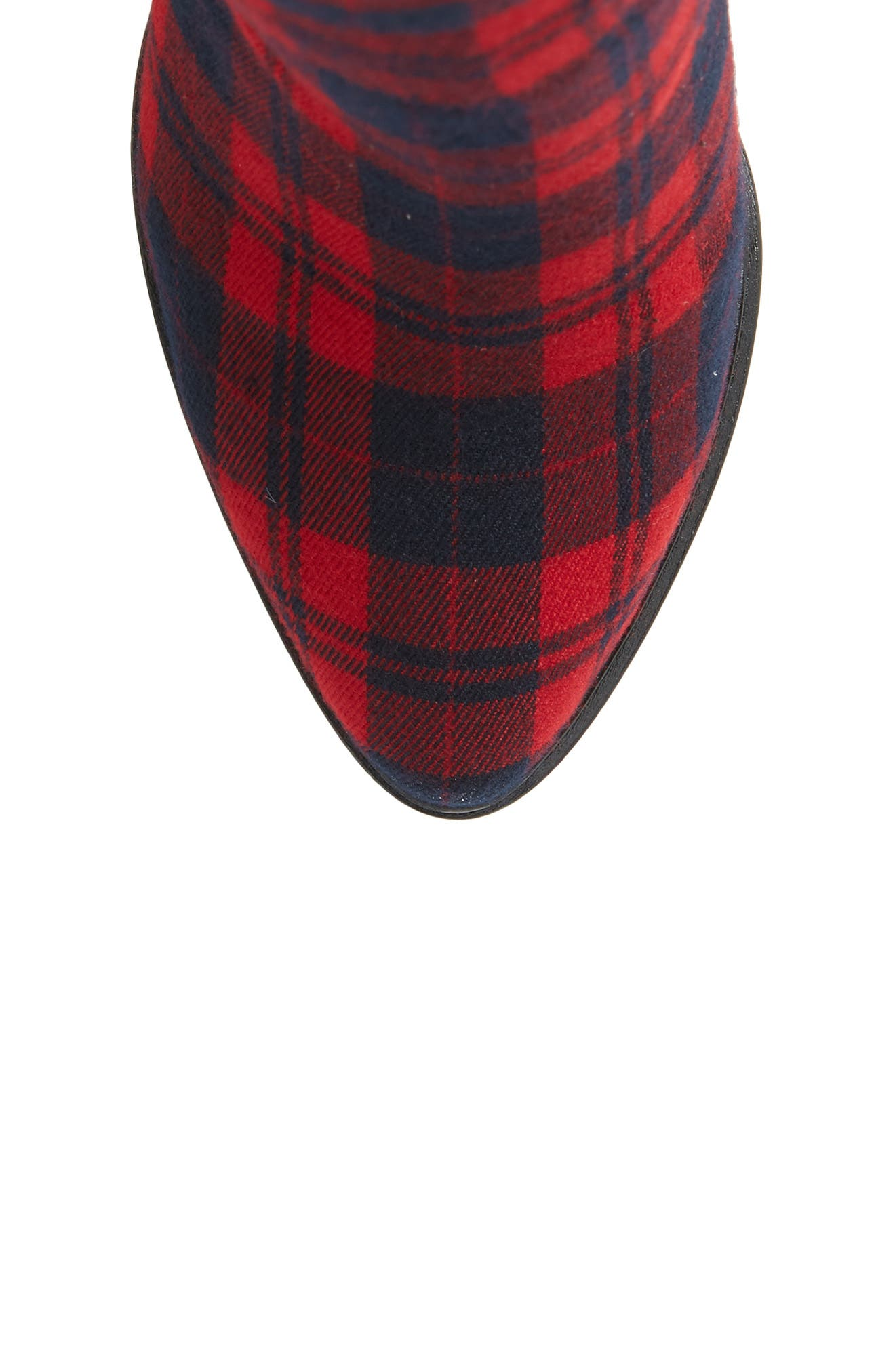 Alla Over the Knee Boot,                             Alternate thumbnail 5, color,                             RED TARTAN