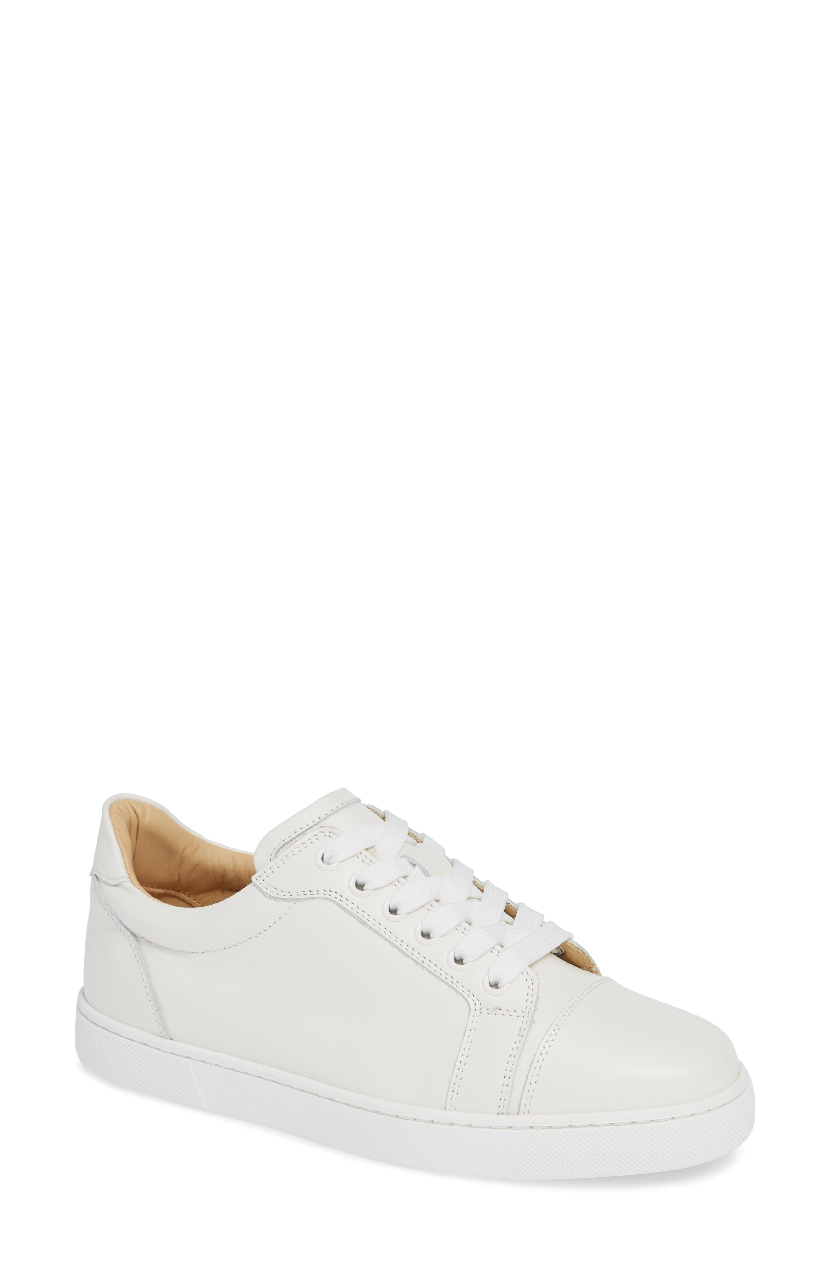 Veira Lace-Up Sneaker,                             Main thumbnail 1, color,                             SNOW WHITE