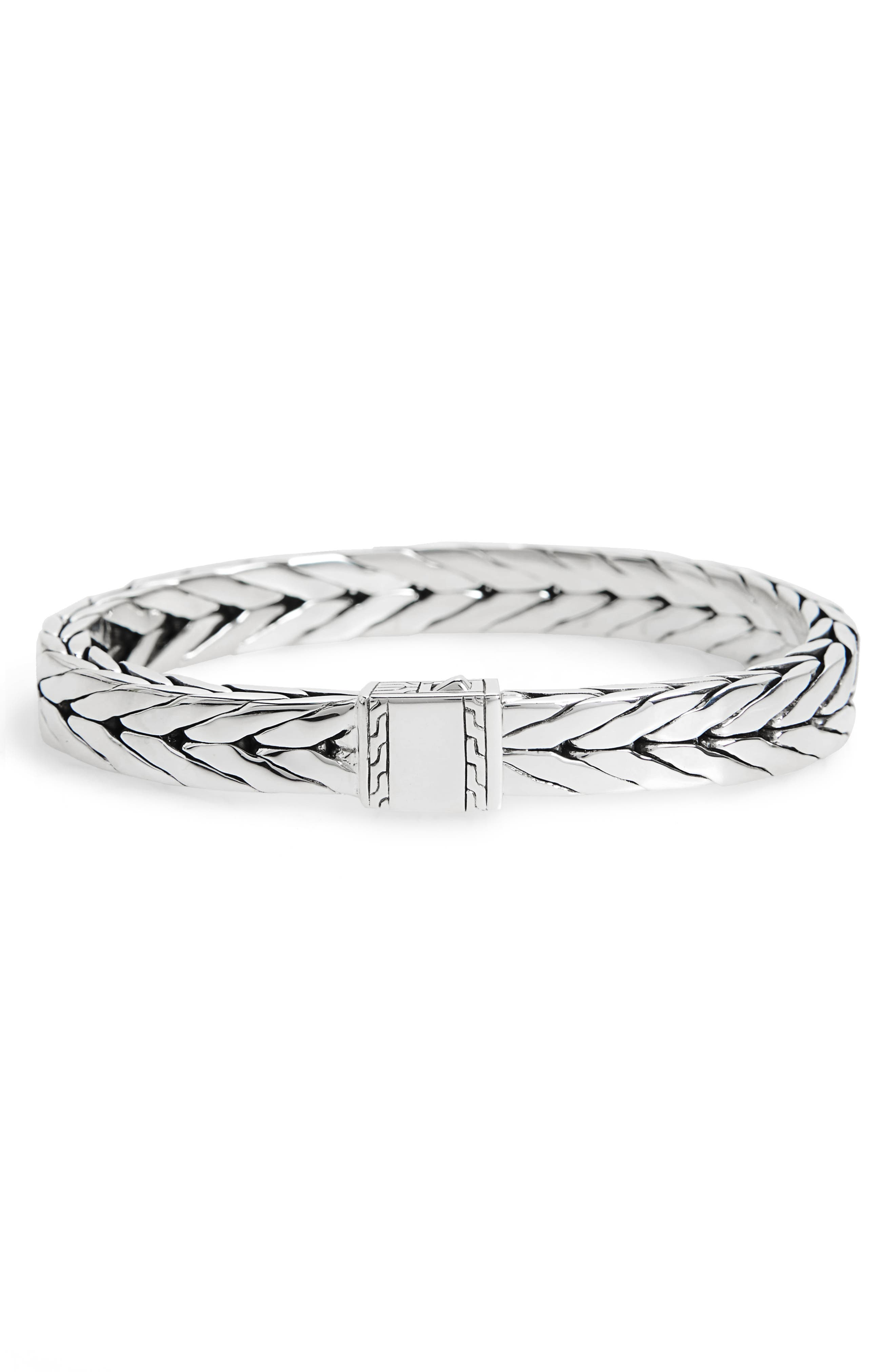 Modern Chain 9mm Bracelet,                         Main,                         color, SILVER