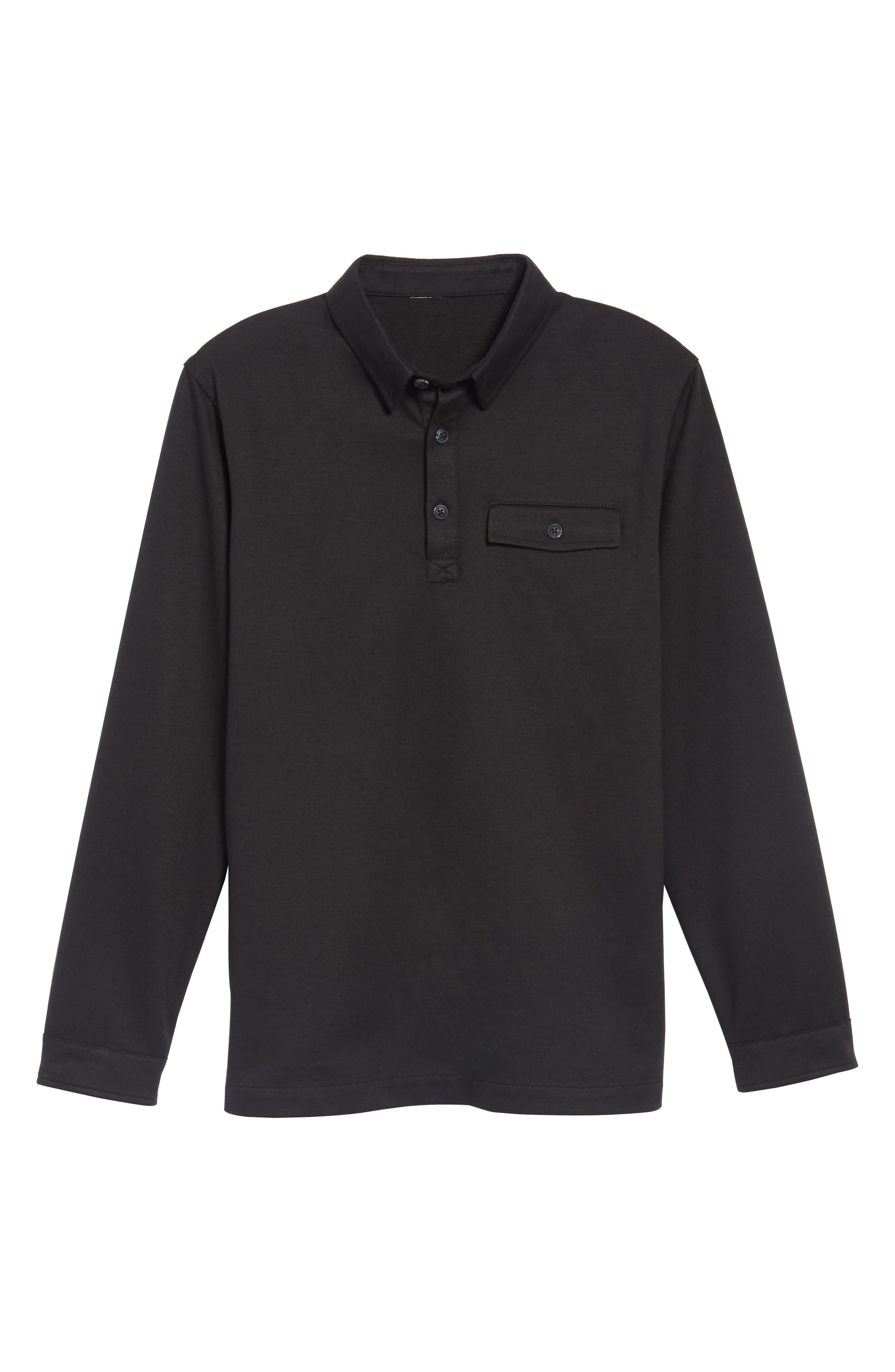 Long Sleeve Polo,                             Alternate thumbnail 6, color,                             001
